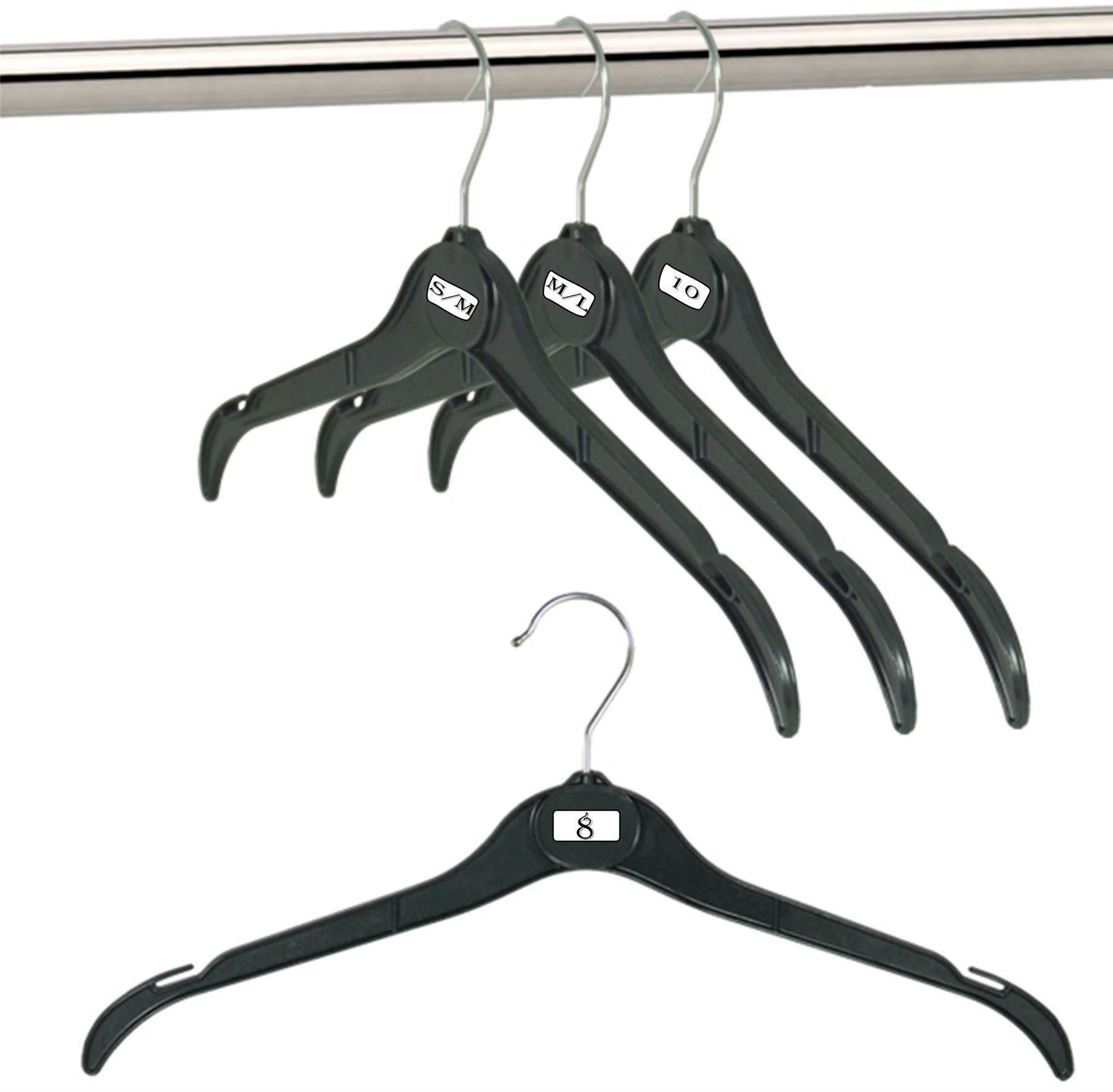 BLACK PLASTIC COAT HANGERS GARMENT TOP SKIRT SHIRT CLOTHES ...