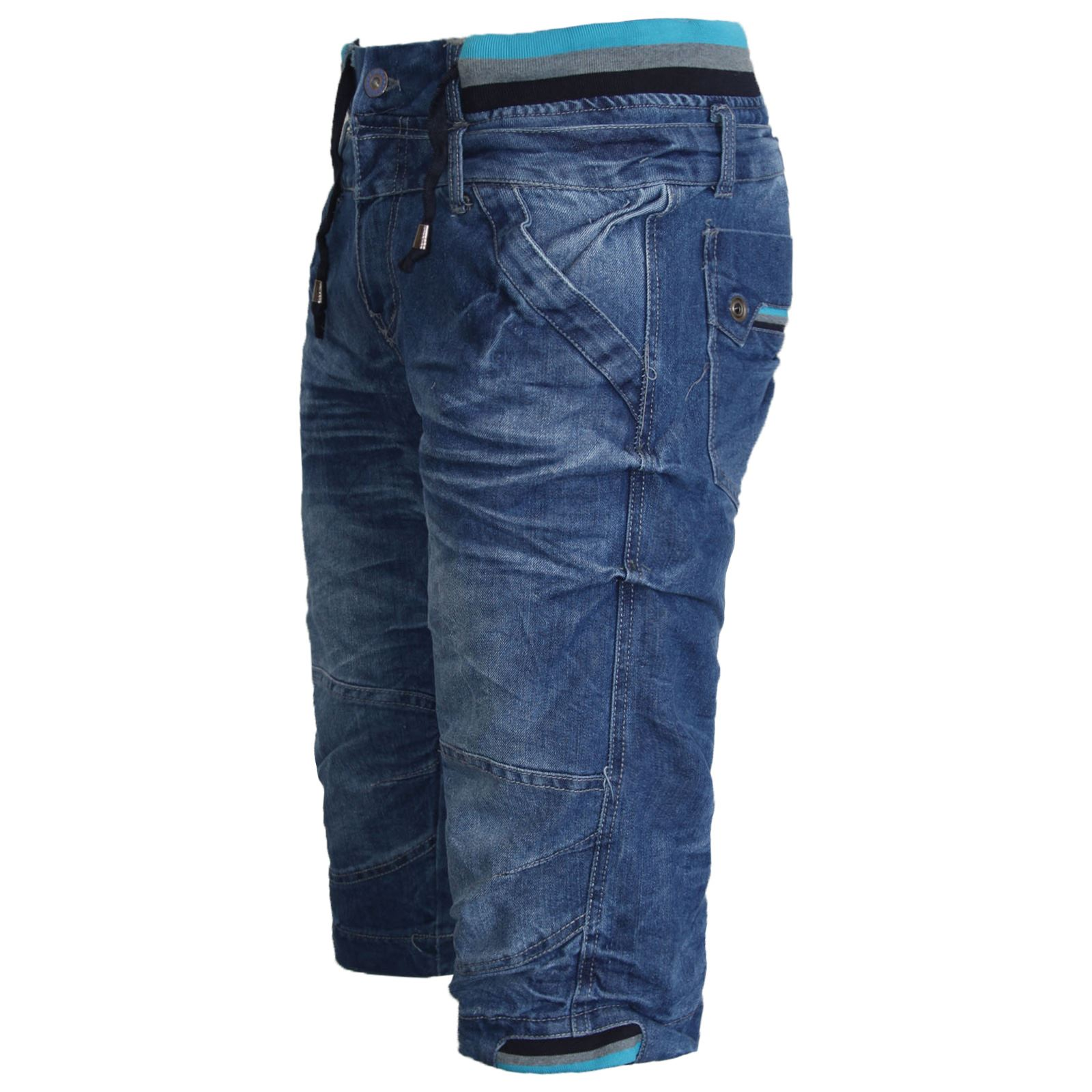 NEW MENS CASUAL DENIM CARGO COMBAT 3/4 LONG SHORTS JEANS PANTS ...