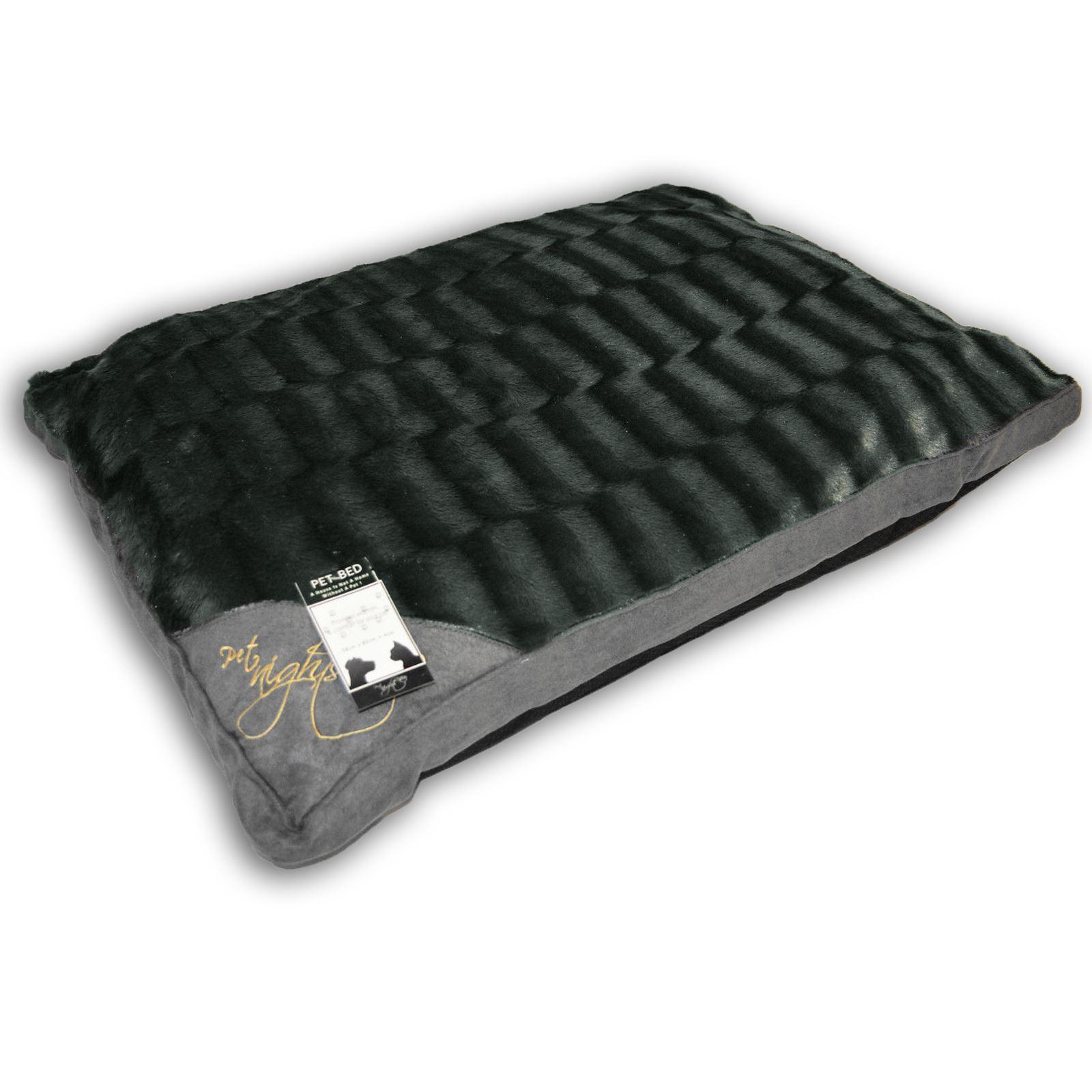 luxe matelas lit pour chien large fourrure pour chat chiot coussin zipp e oreiller chaud doux ebay. Black Bedroom Furniture Sets. Home Design Ideas
