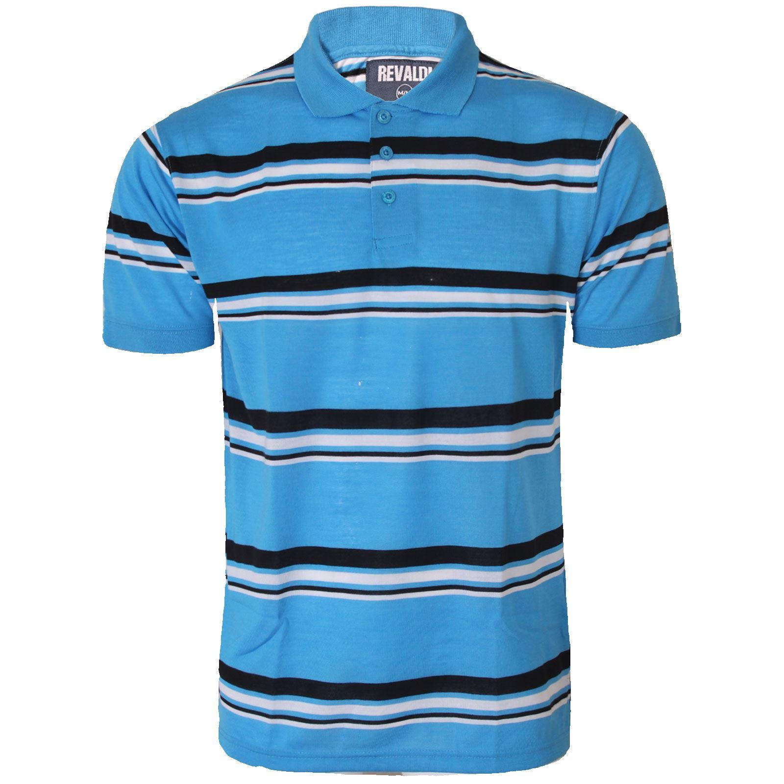 Mens striped short sleeve polo shirt top golf t shirt for Best striped t shirt