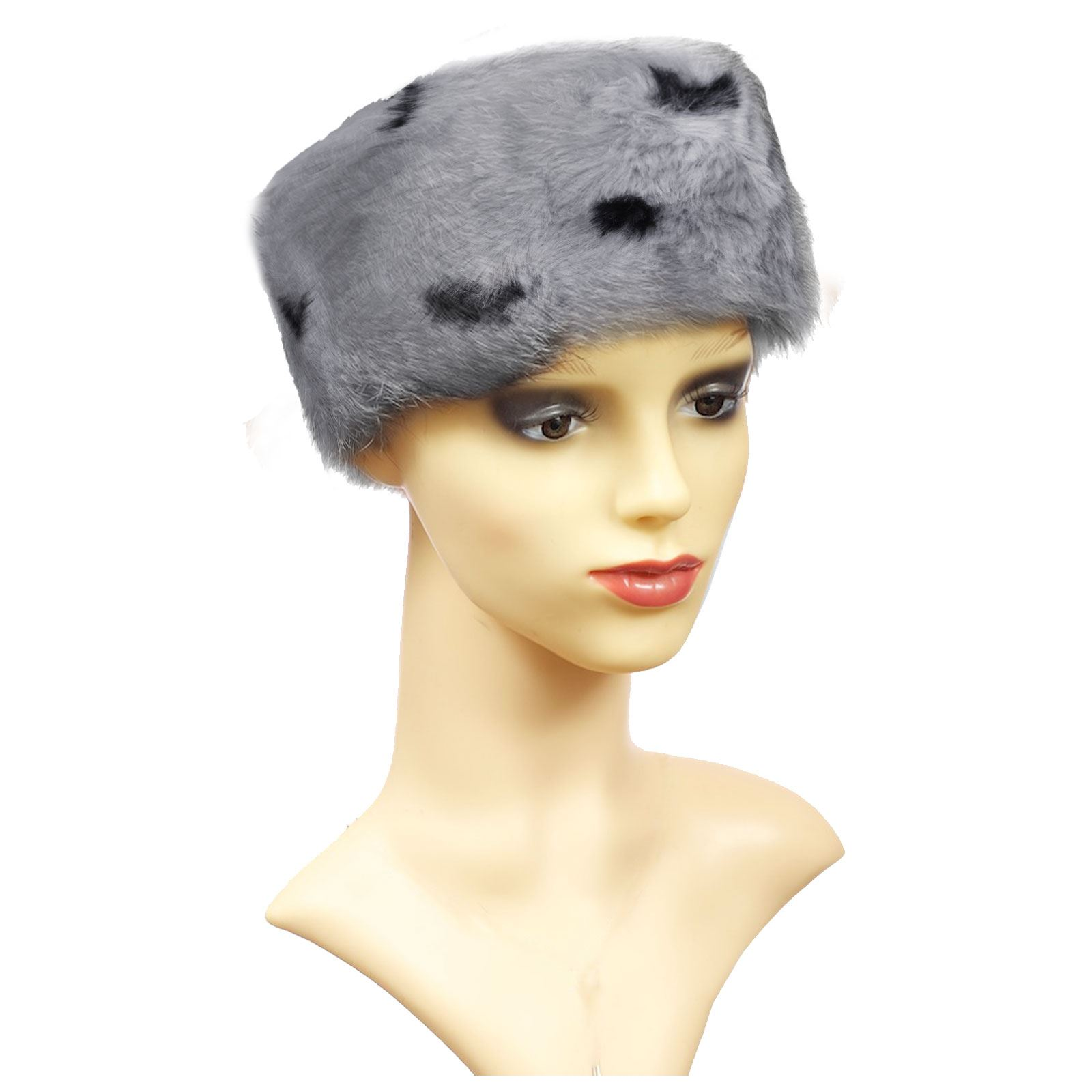 warm faux fur hat cossack fashion womens
