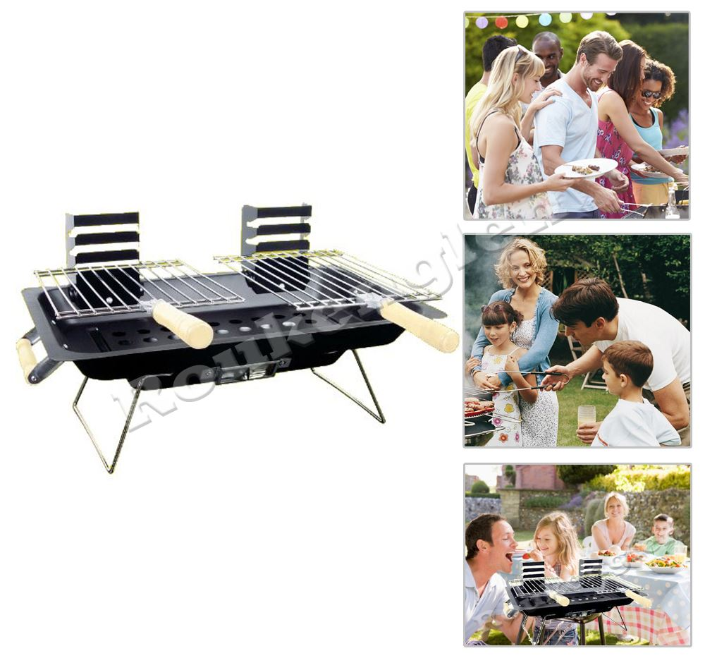 hibachi bbq cendrier barbecue charbon de bois sans fum e briquettes camping jardin ebay. Black Bedroom Furniture Sets. Home Design Ideas