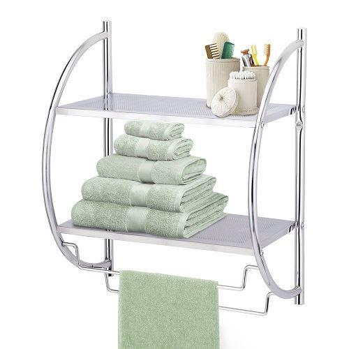 Bathroom Sink Rack : Bathroom-Under-Shelf-Sink-Hanging-Rack-Rail-Towel-Wall-Mount-amp-Stand ...