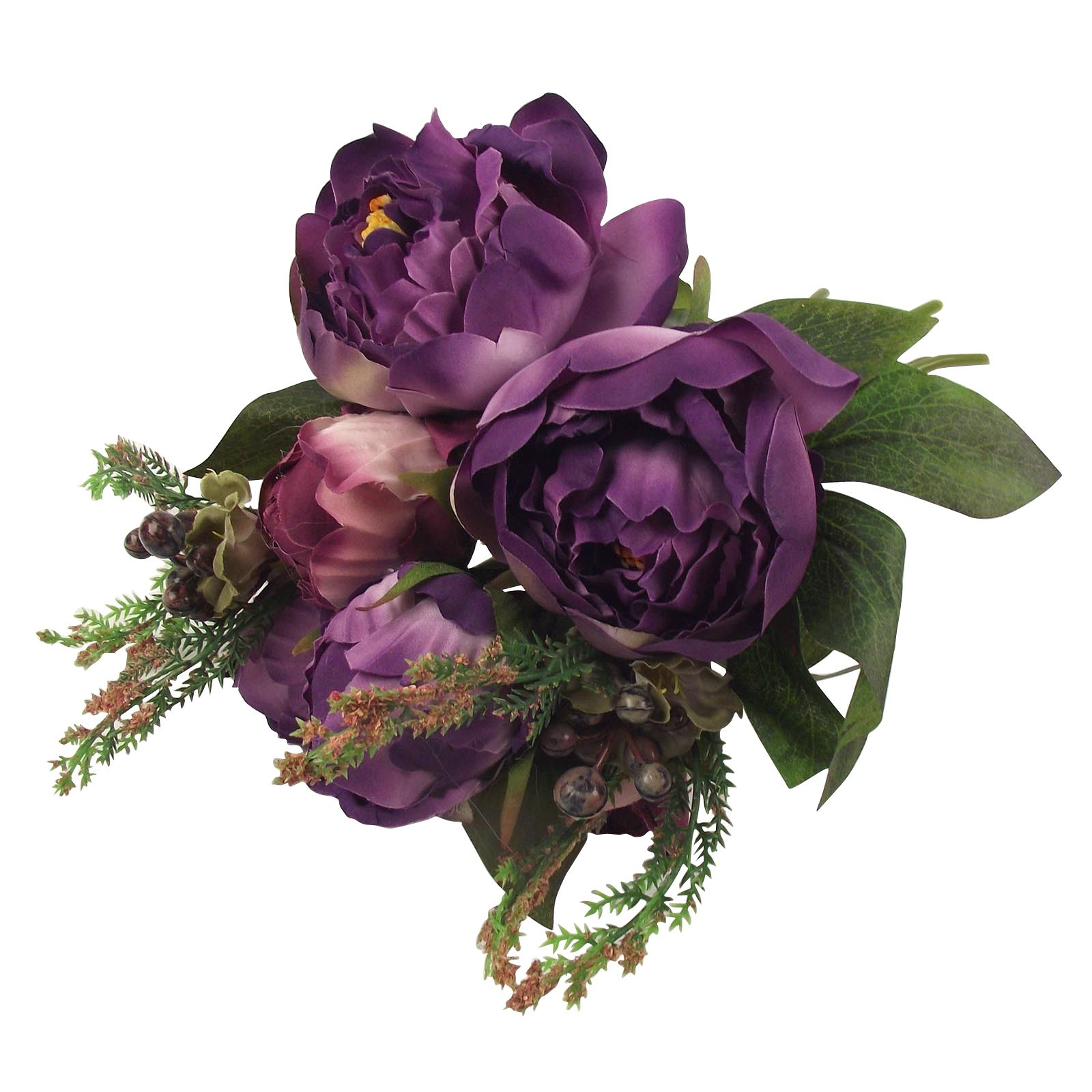 Silk Flower Bouquets Do Yourself: Hand Tied Large Peony Bundle Artificial Flower Bunch