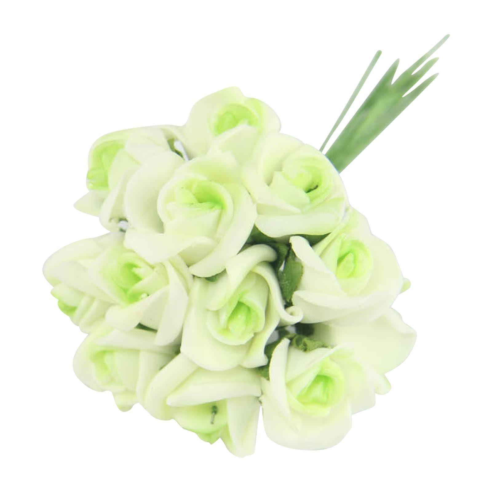 Craft flowers in bulk - Bundles Of 12 Mini Foam Rose Bunches Bulk