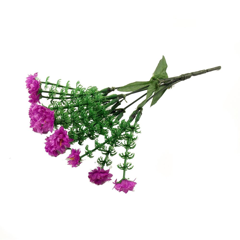 2x bunches of 15 head mini flowers artificial bouquet silk for Fake flowers for crafts