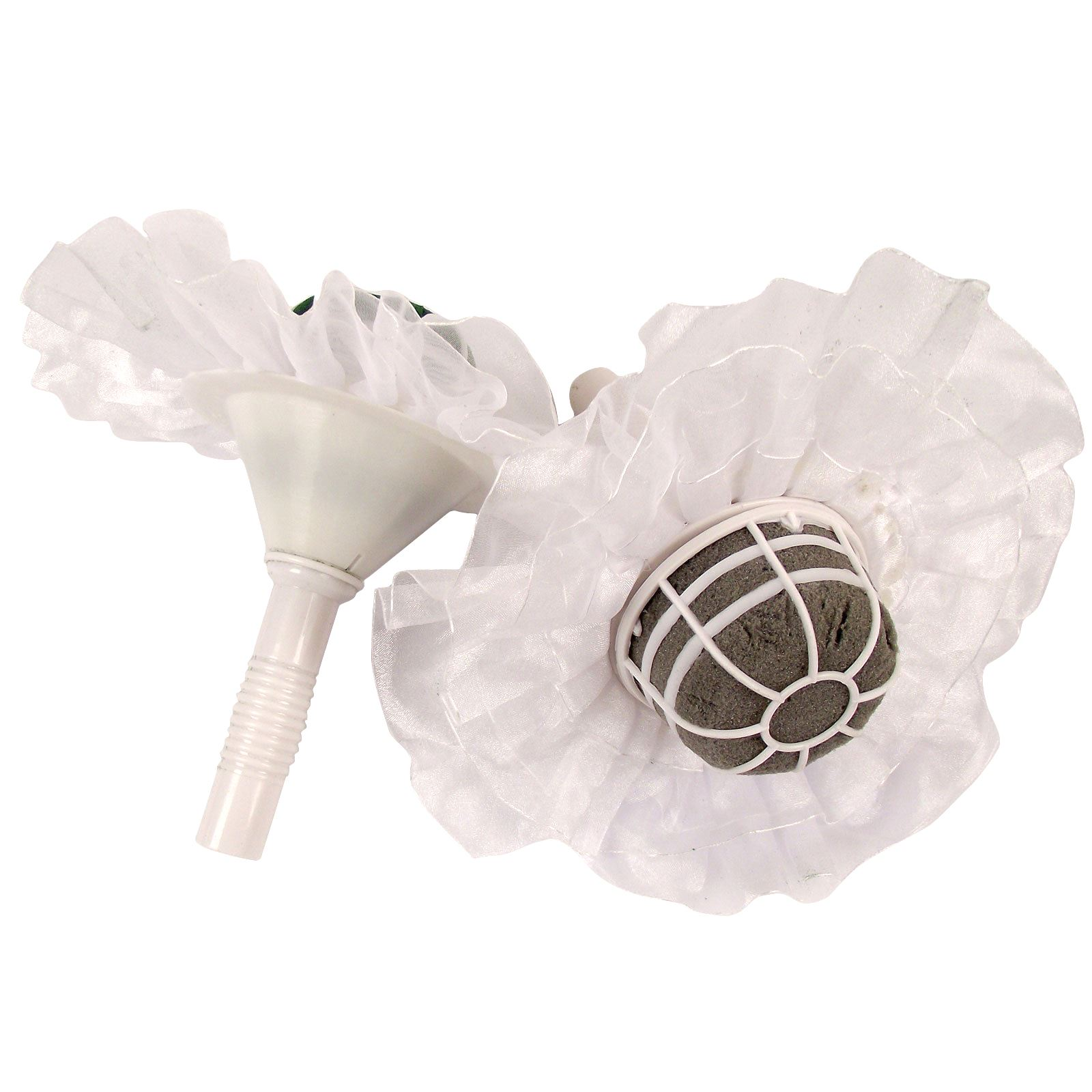 Bridal Bouquet Holder Oasis : Foam bouquet holders with frills oasis wedding belle sec
