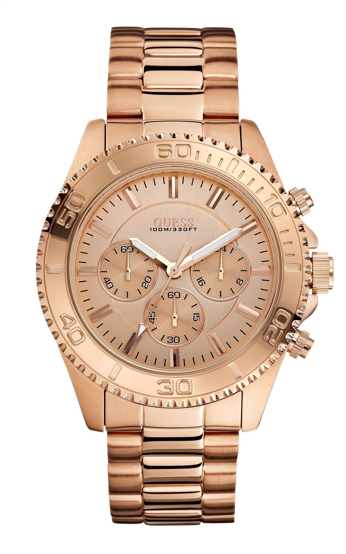 guess mens watch rrp £220 rose gold over £100 off w0170g4 image is loading guess mens watch rrp 220 rose gold over