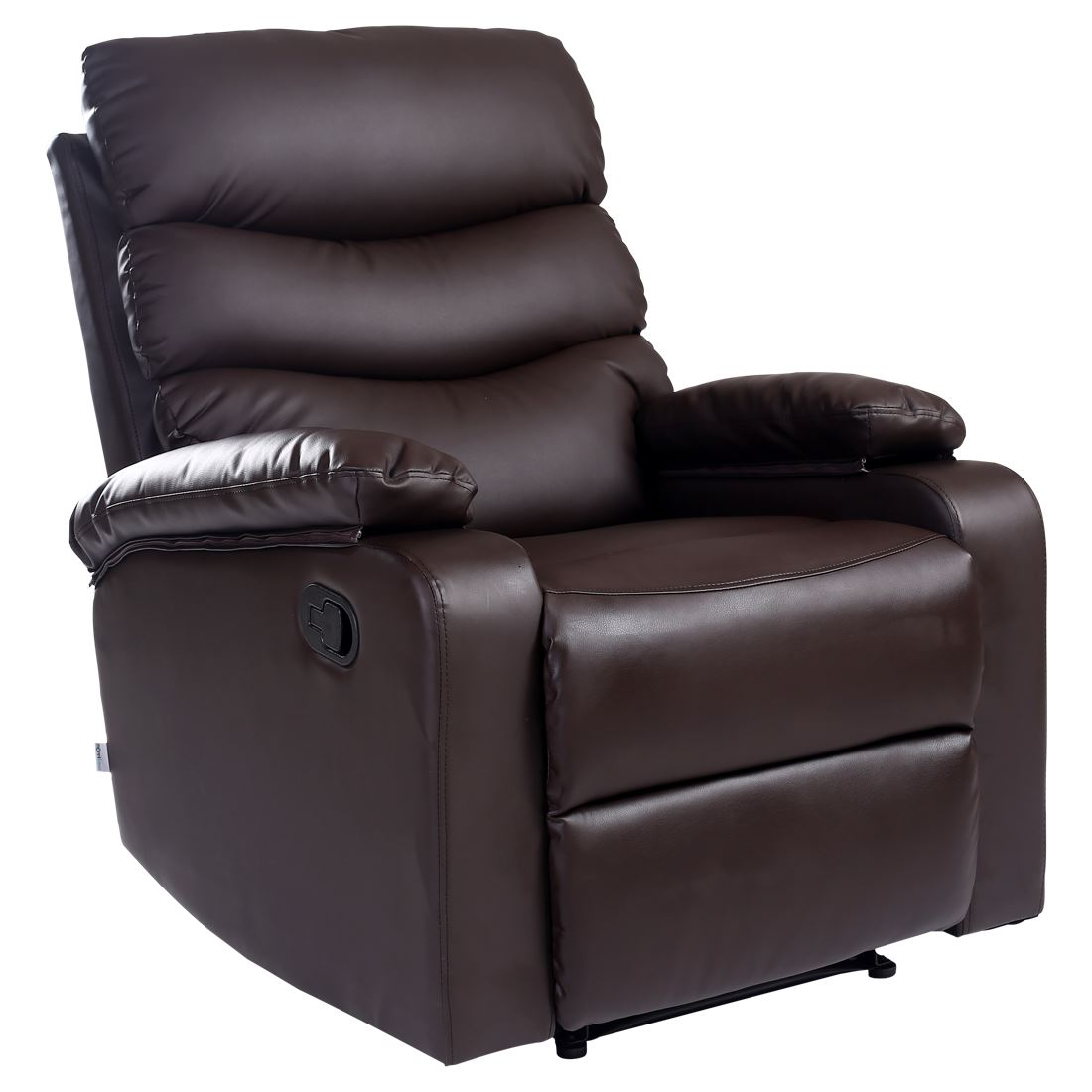 home ashby leather recliner armchair sofa home lounge chair reclining