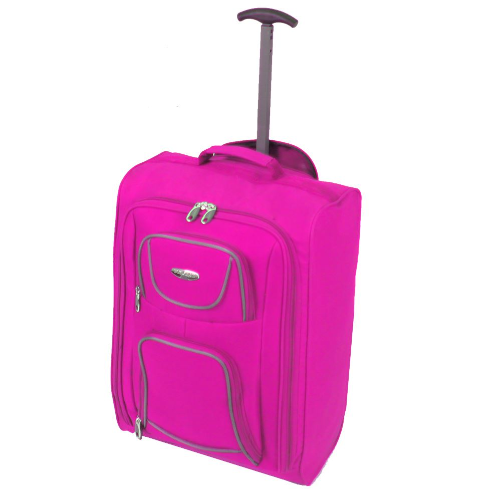 Cabin-Approved-Ryanair-Hand-Luggage-Travel-Holdall-Wheeled-Trolley-Suitcase-Bag