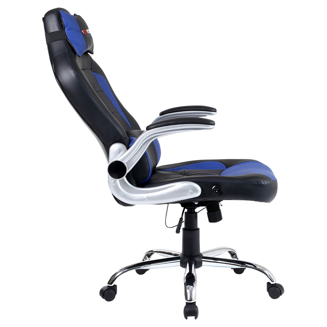 GTFORCE BLAZE BLUE RECLINING LEATHER SPORTS RACING OFFICE DESK CHAIR GAMING