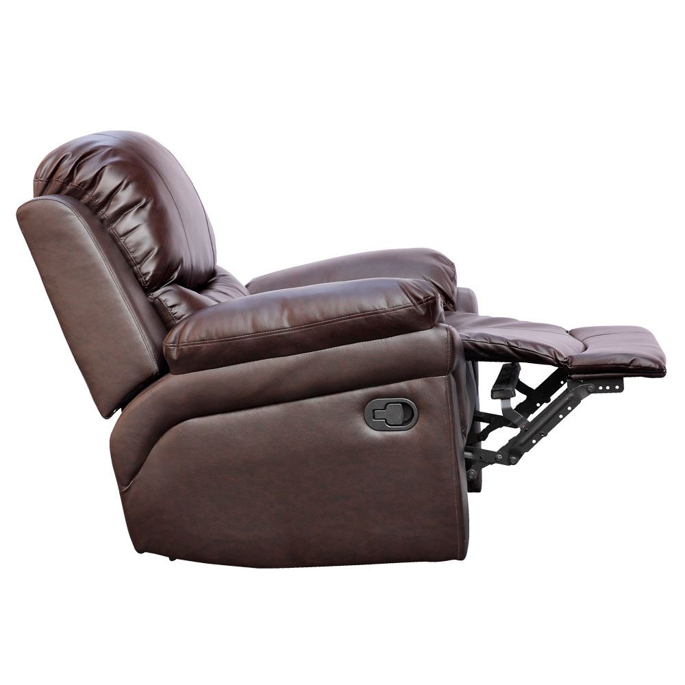 Madison Brown Real Leather Recliner Armchair Sofa Home Lounge Chair Reclining Ebay