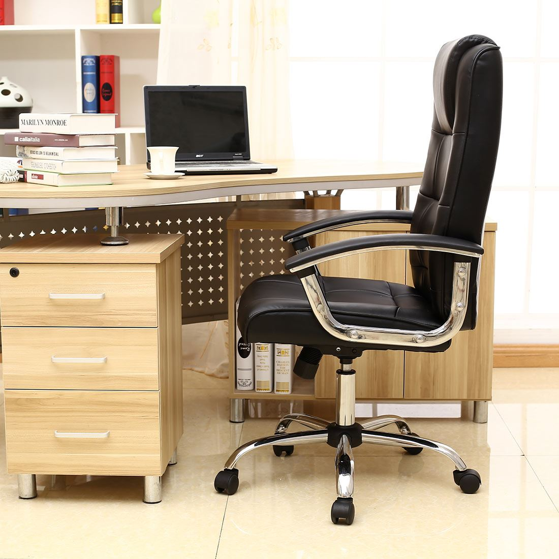 Grande Black High Back Executive Leather Office Chair
