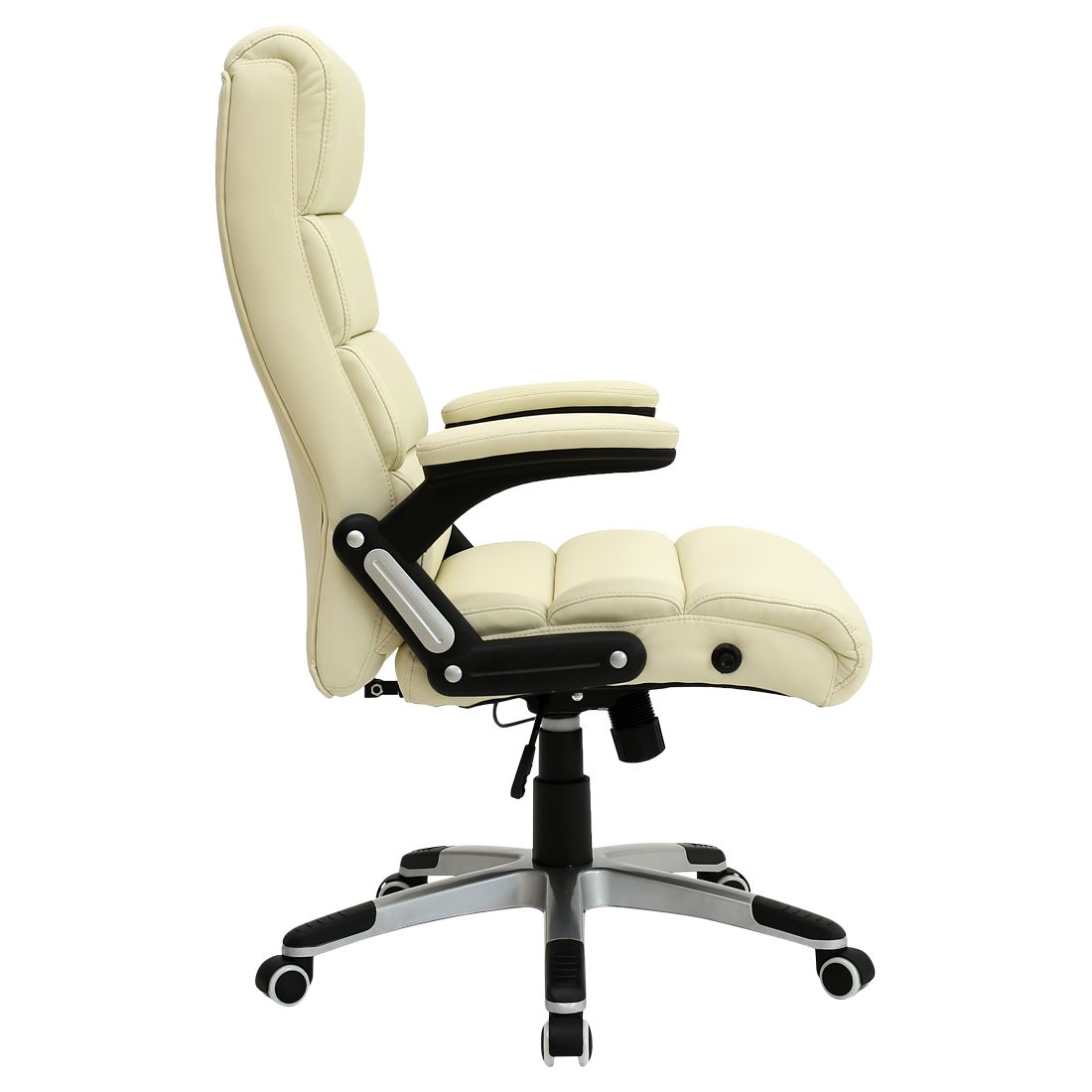 Havana cream luxury reclining executive leather office for Luxury leather office chairs