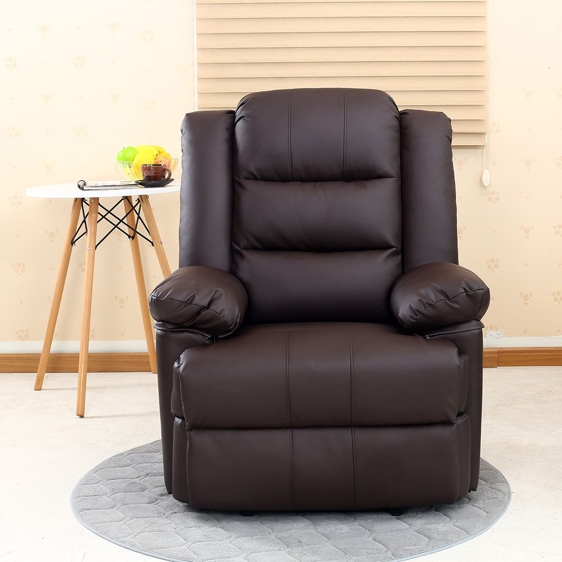 loxley leather recliner armchair sofa home lounge chair reclining