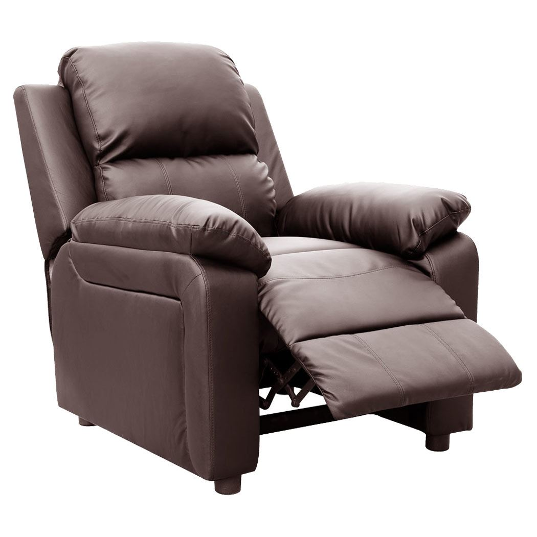 ultimo brown real leather recliner armchair sofa chair reclining home
