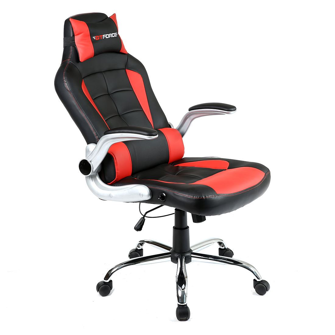 gtforce blaze reclining leather sports racing office desk chair gaming computer ebay. Black Bedroom Furniture Sets. Home Design Ideas