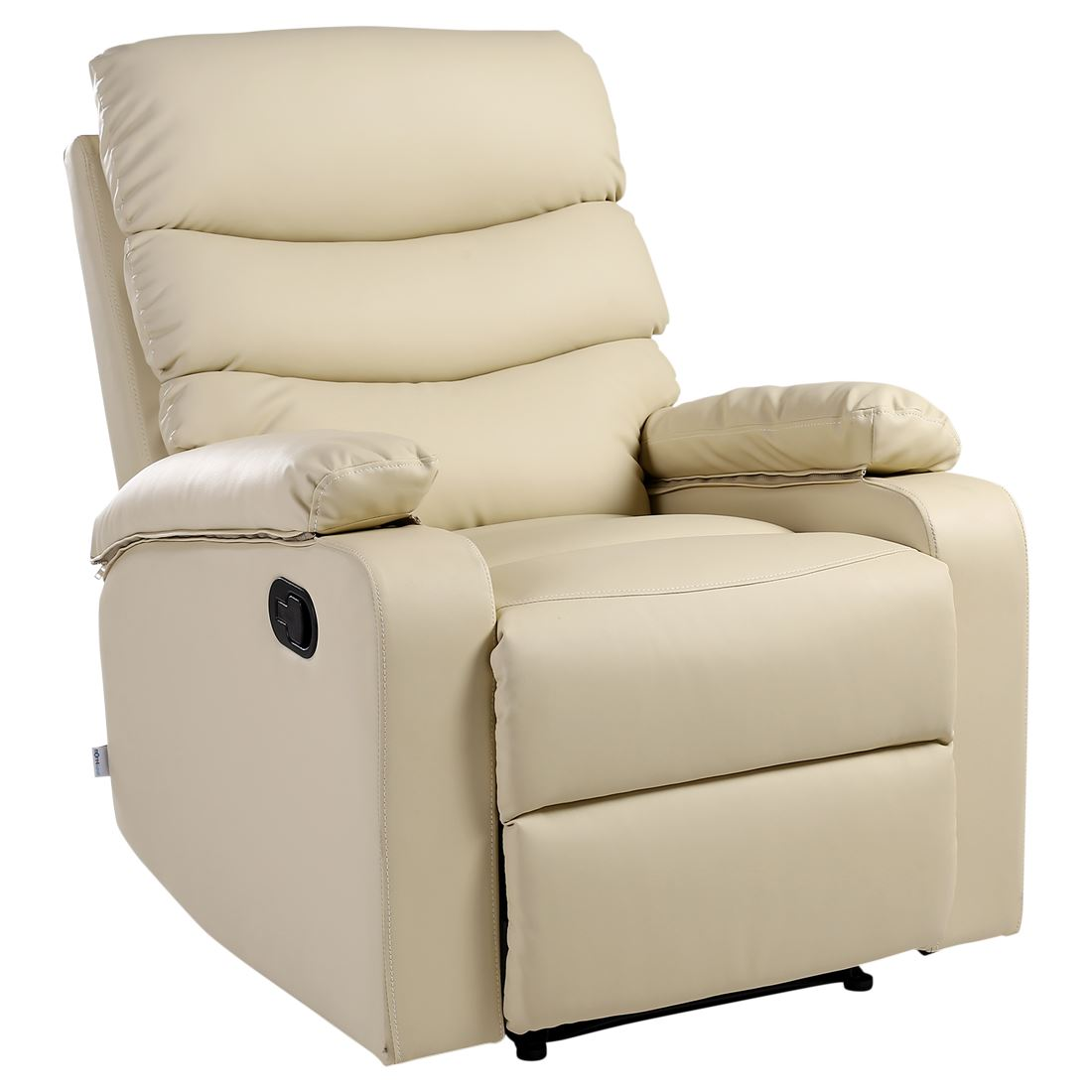 ashby cream leather recliner armchair sofa home lounge chair reclining
