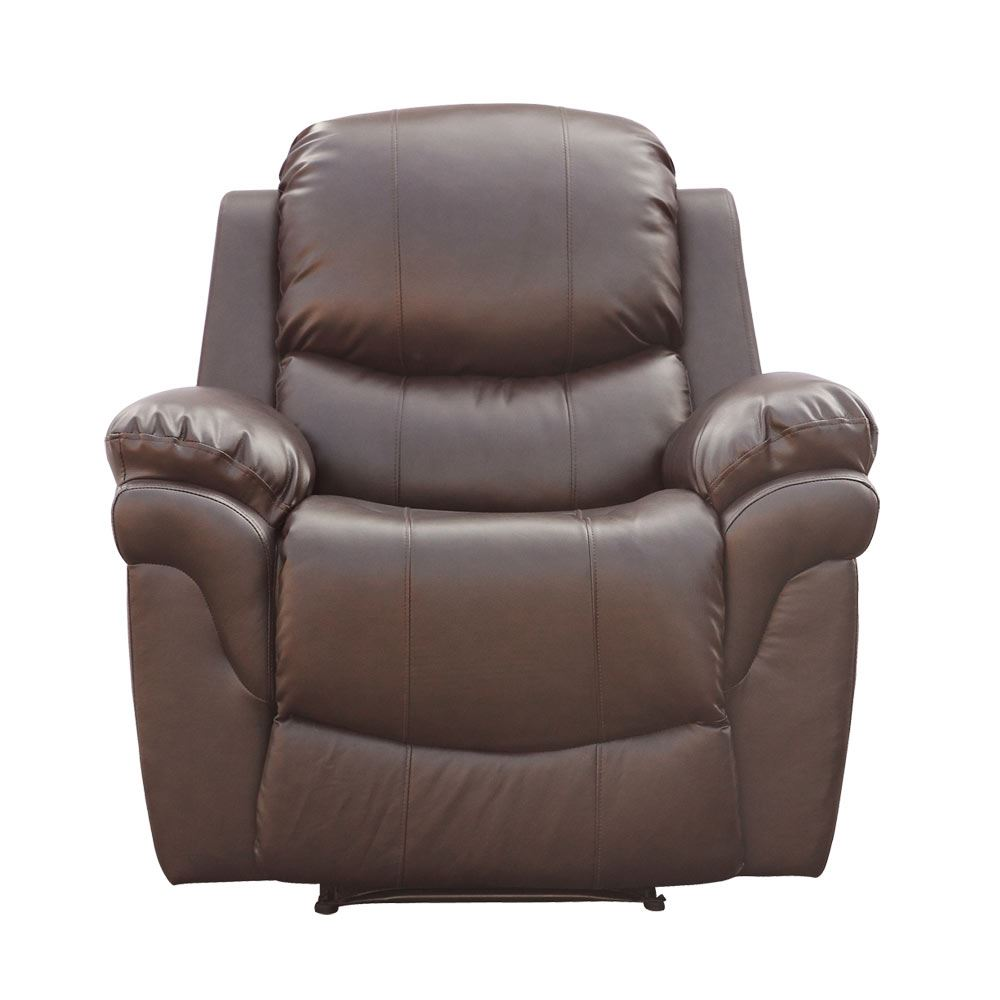 real leather recliner armchair sofa home lounge chair reclining ebay