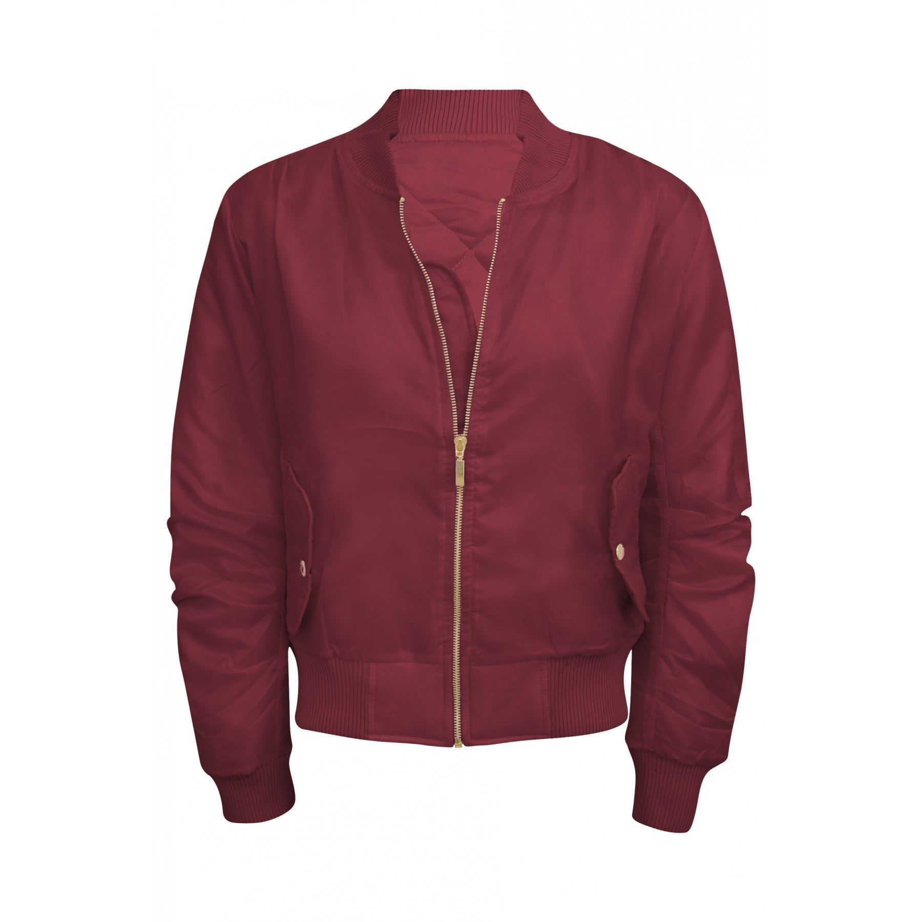 Womens Bomber Jacket Ladies Celebrity Inspired Summer ...