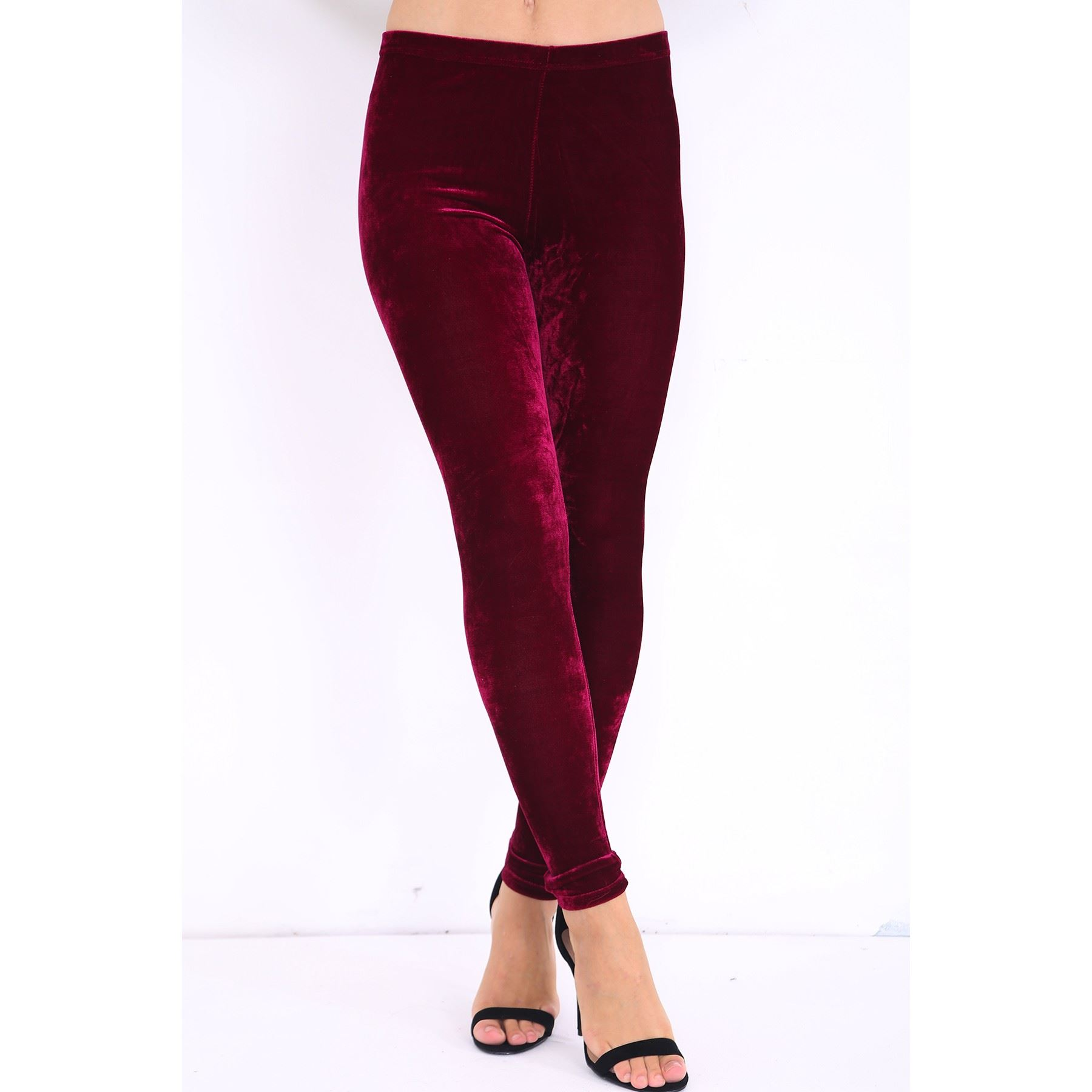 Size Small S/P COLOR: BLACK New With Tags Features Look sexy in these slimming velvet leggings Ultimate tummy smoothing thanks to shaping waistband 25'' inseam; measurement taken from size M Super comfortable stretch velvet Style # Content Body: 91% Polyester, 9% Spandex.
