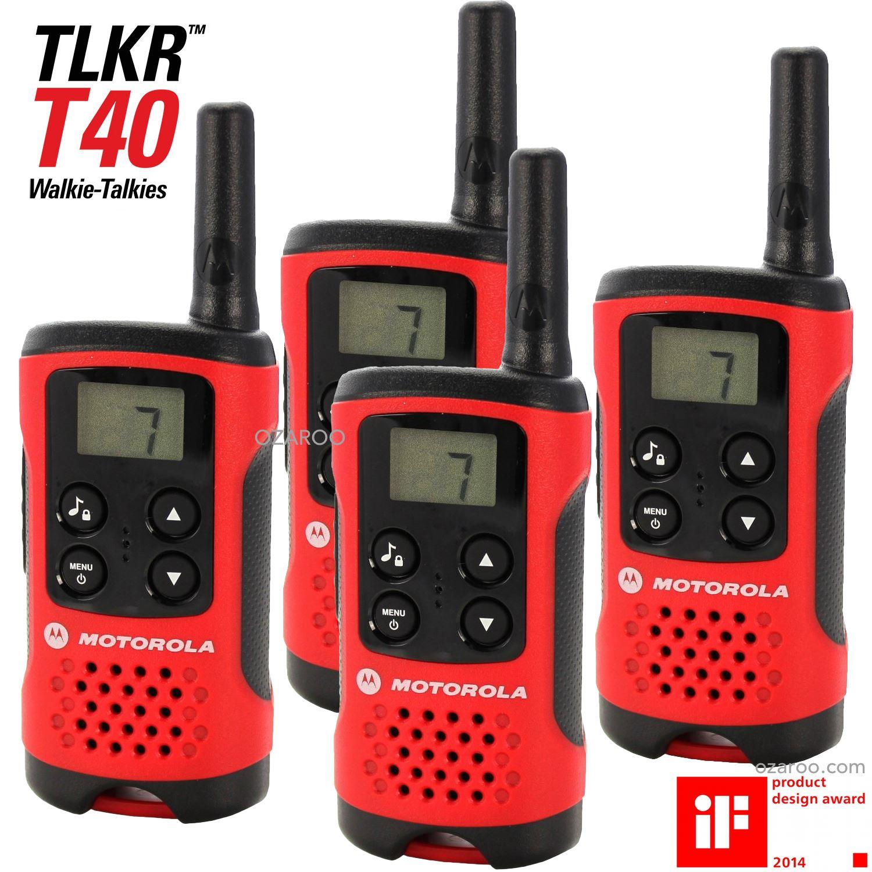 4 x motorola talker tlkr t40 2 way walkie talkie compact pmr446 radio quad pack ebay. Black Bedroom Furniture Sets. Home Design Ideas
