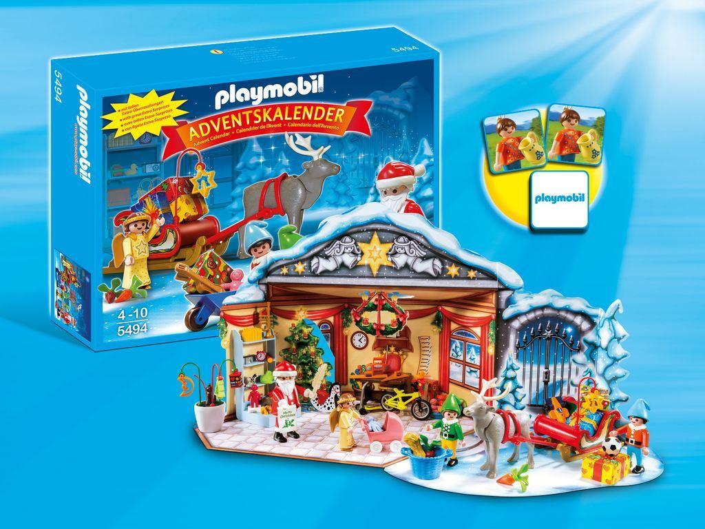Playmobil Christmas 5494 Childrens Advent Calendar Santas Workshop 101 ...