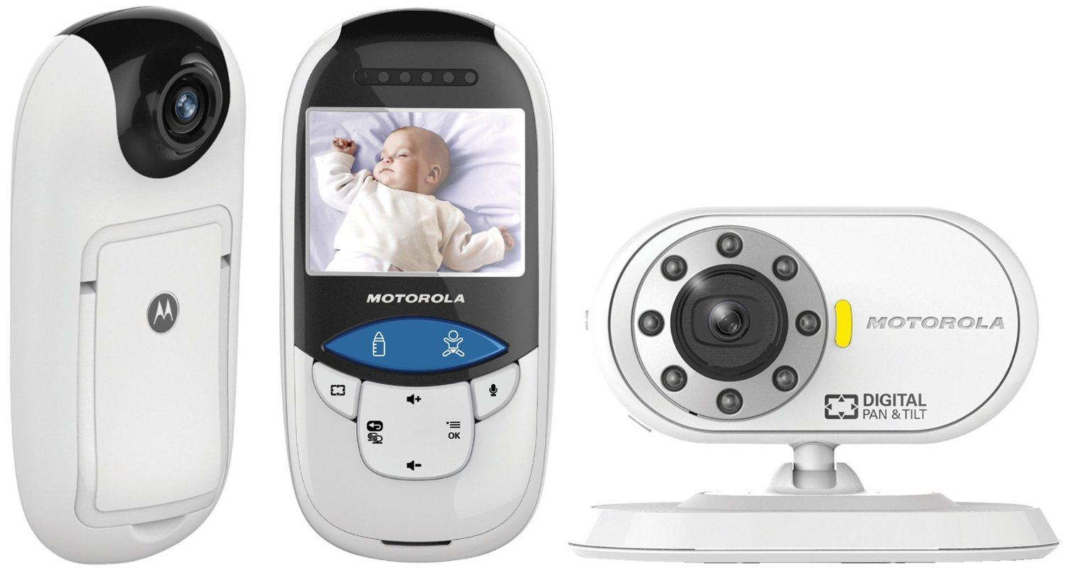 motorola mbp27t digital video thermometer baby monitor with no touch ir senso. Black Bedroom Furniture Sets. Home Design Ideas