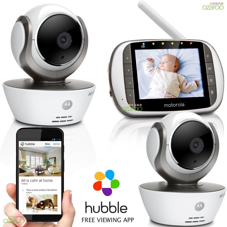 motorola mbp853 connect hd digital wifi video baby monitor 3 5 screen 2. Black Bedroom Furniture Sets. Home Design Ideas