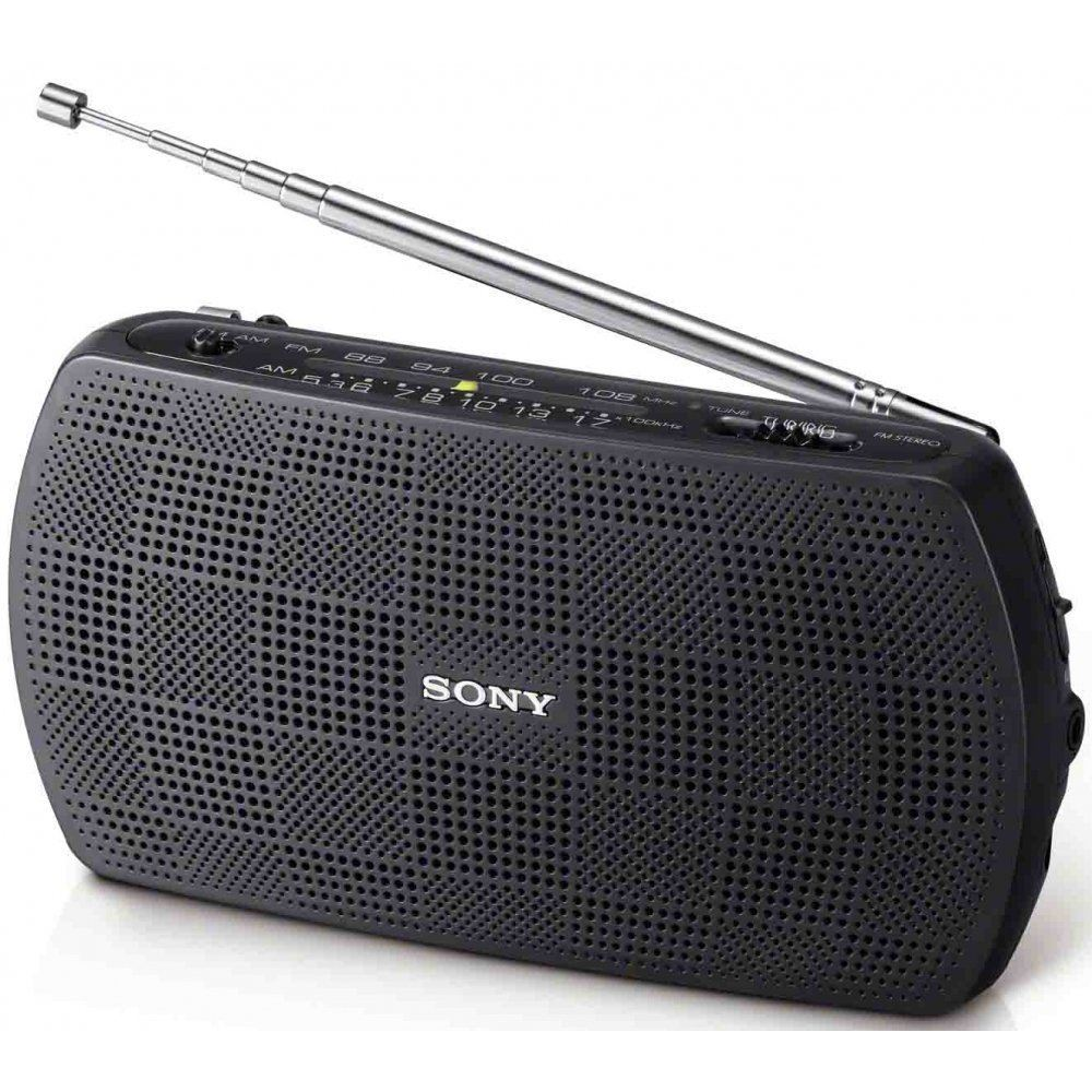 sony am fm stereo modern portable travel battery powered. Black Bedroom Furniture Sets. Home Design Ideas