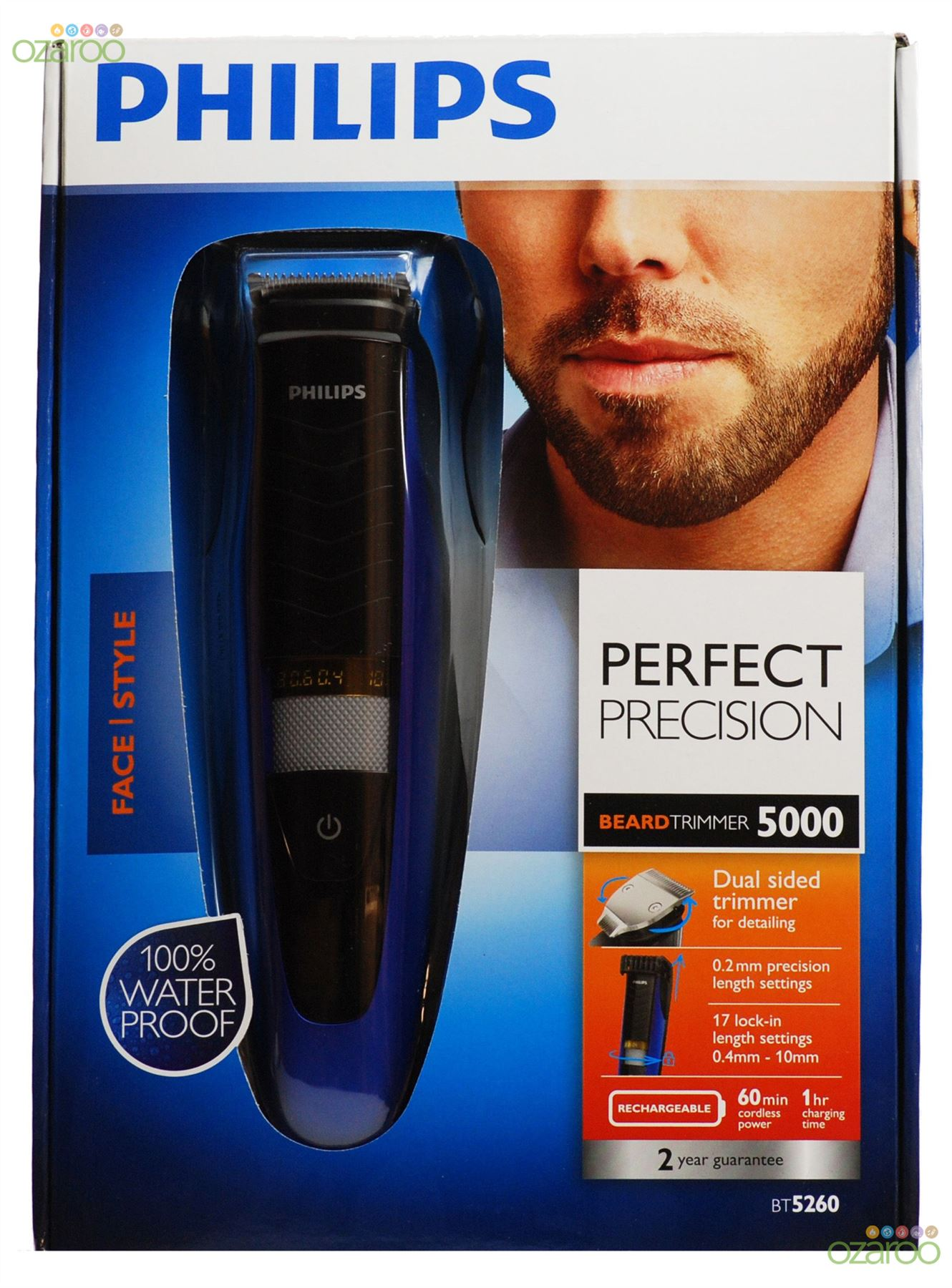 philips mens xpert 5000 series beard stubble trimmer shaver clipper bt5260 33 ebay. Black Bedroom Furniture Sets. Home Design Ideas