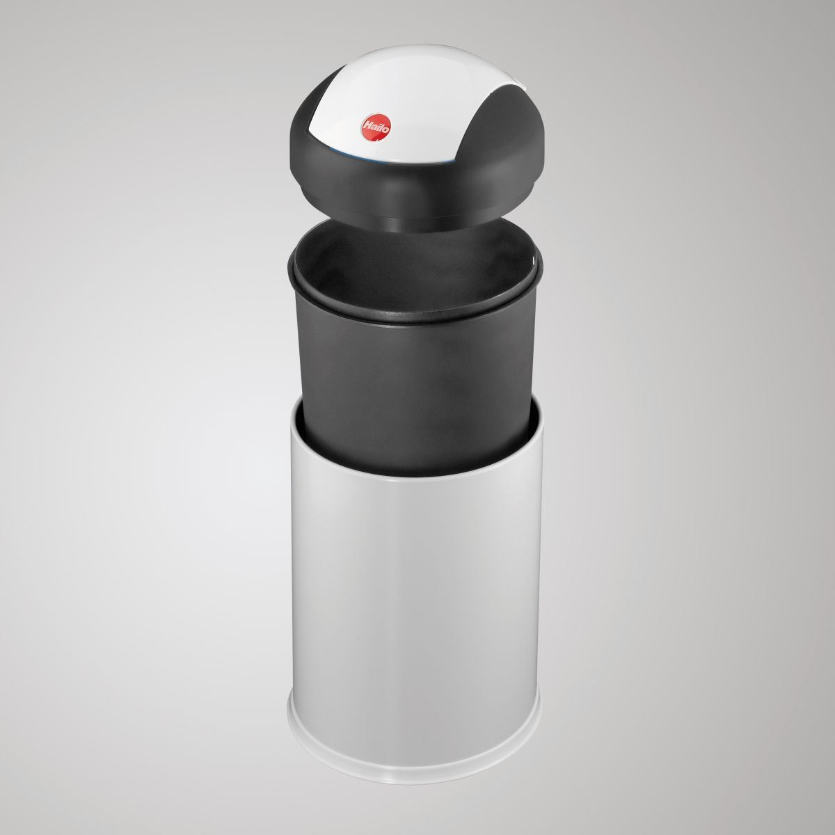Hailo sienna swing lid 4 litre sanitary bathroom bin for Grey bathroom bin