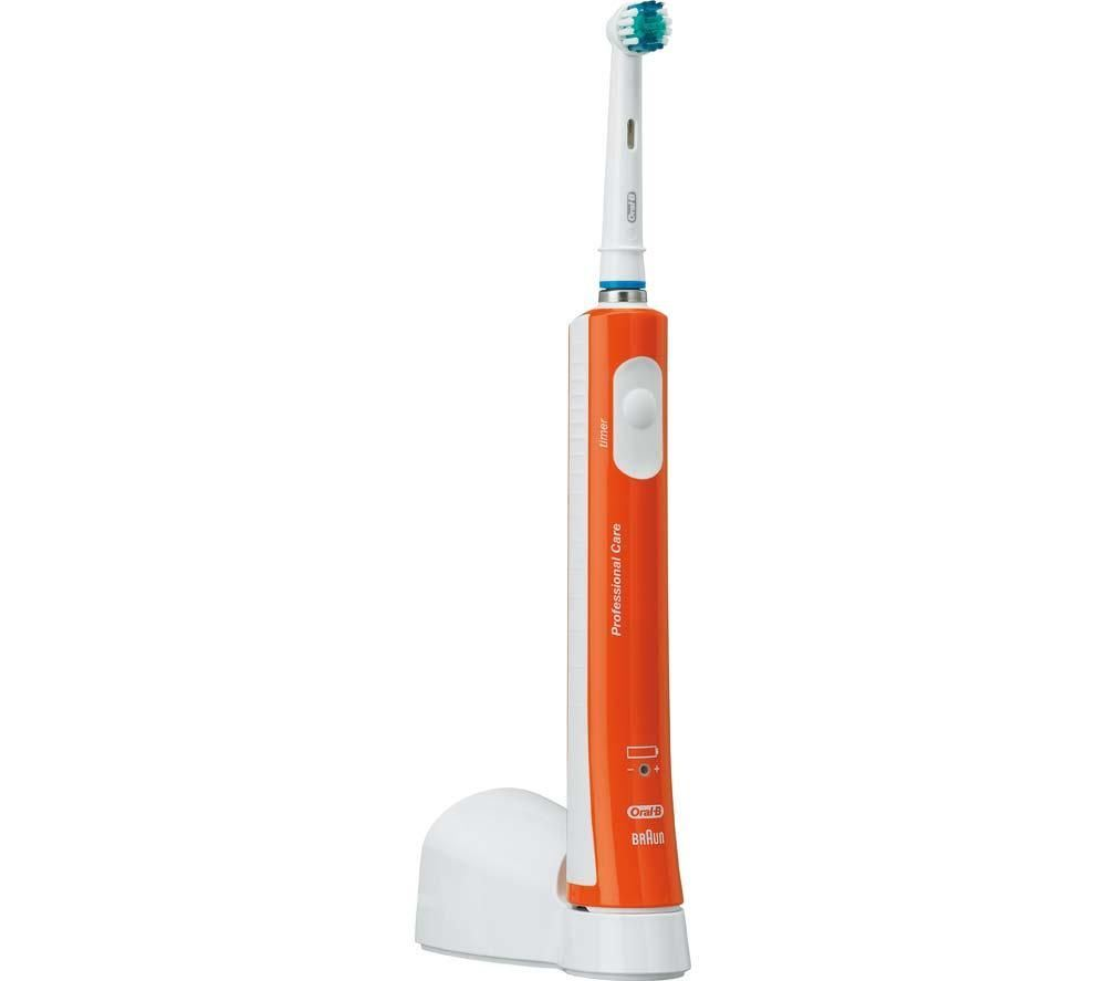 braun oral b professional care pc600 electric toothbrush limited edition orange ebay. Black Bedroom Furniture Sets. Home Design Ideas