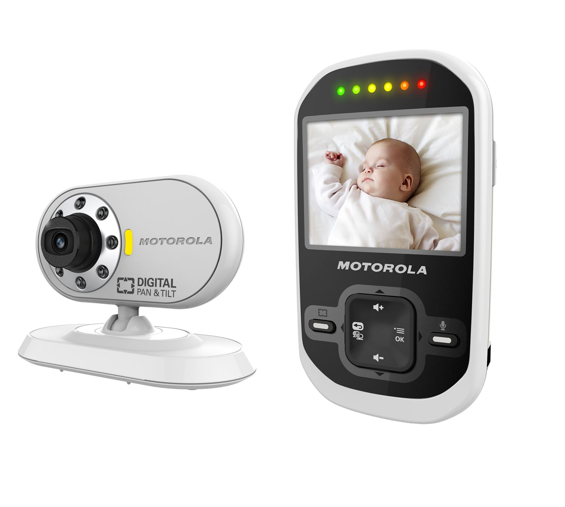 motorola mbp26 digital video camera baby monitor set with 2 4 colour lc. Black Bedroom Furniture Sets. Home Design Ideas