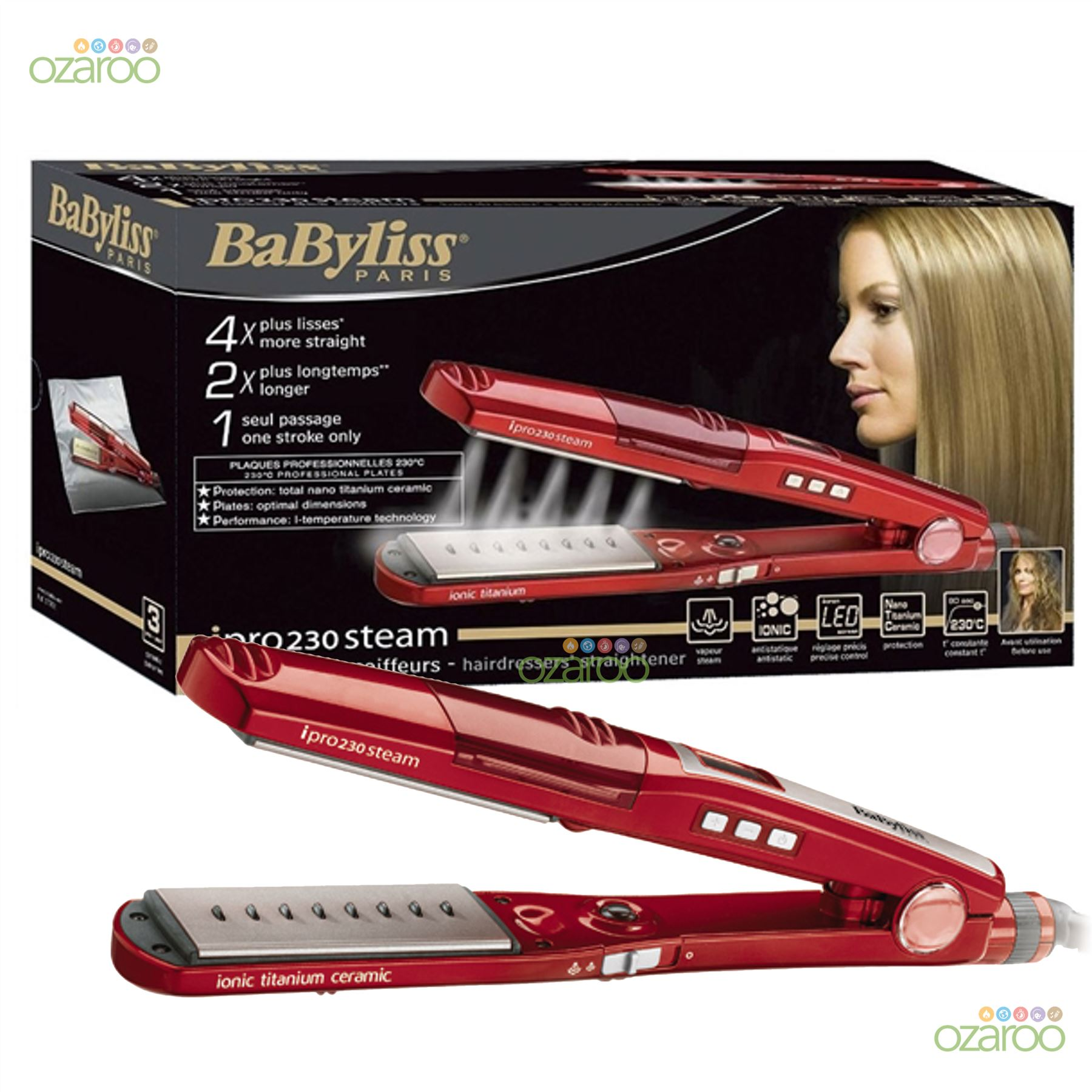babyliss ipro 230 steam digital womens pro hair. Black Bedroom Furniture Sets. Home Design Ideas