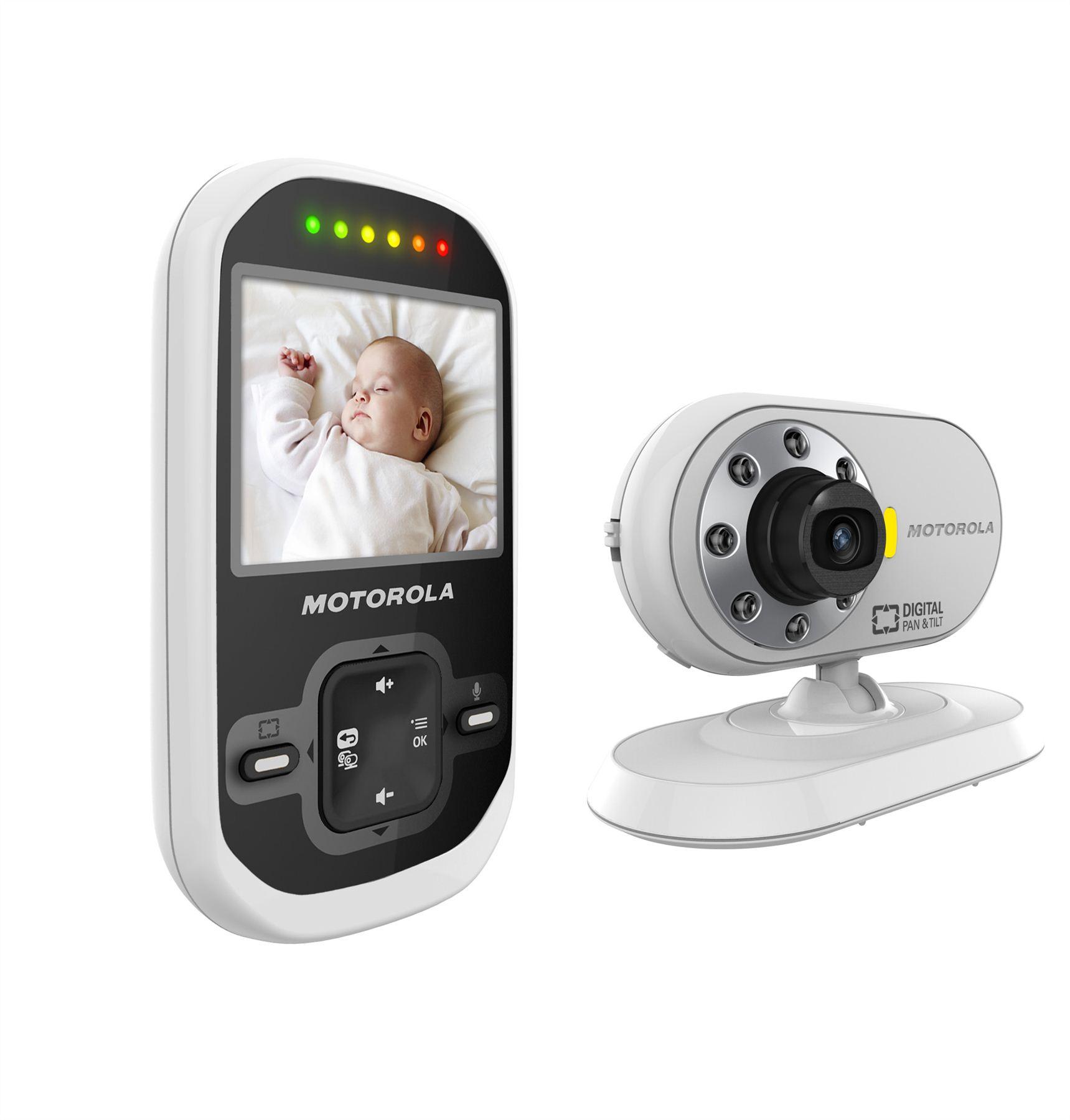 motorola mbp26 digital video camera baby monitor set with 2 4 colour lc. Black Bedroom Furniture Sets. Home Design Ideas