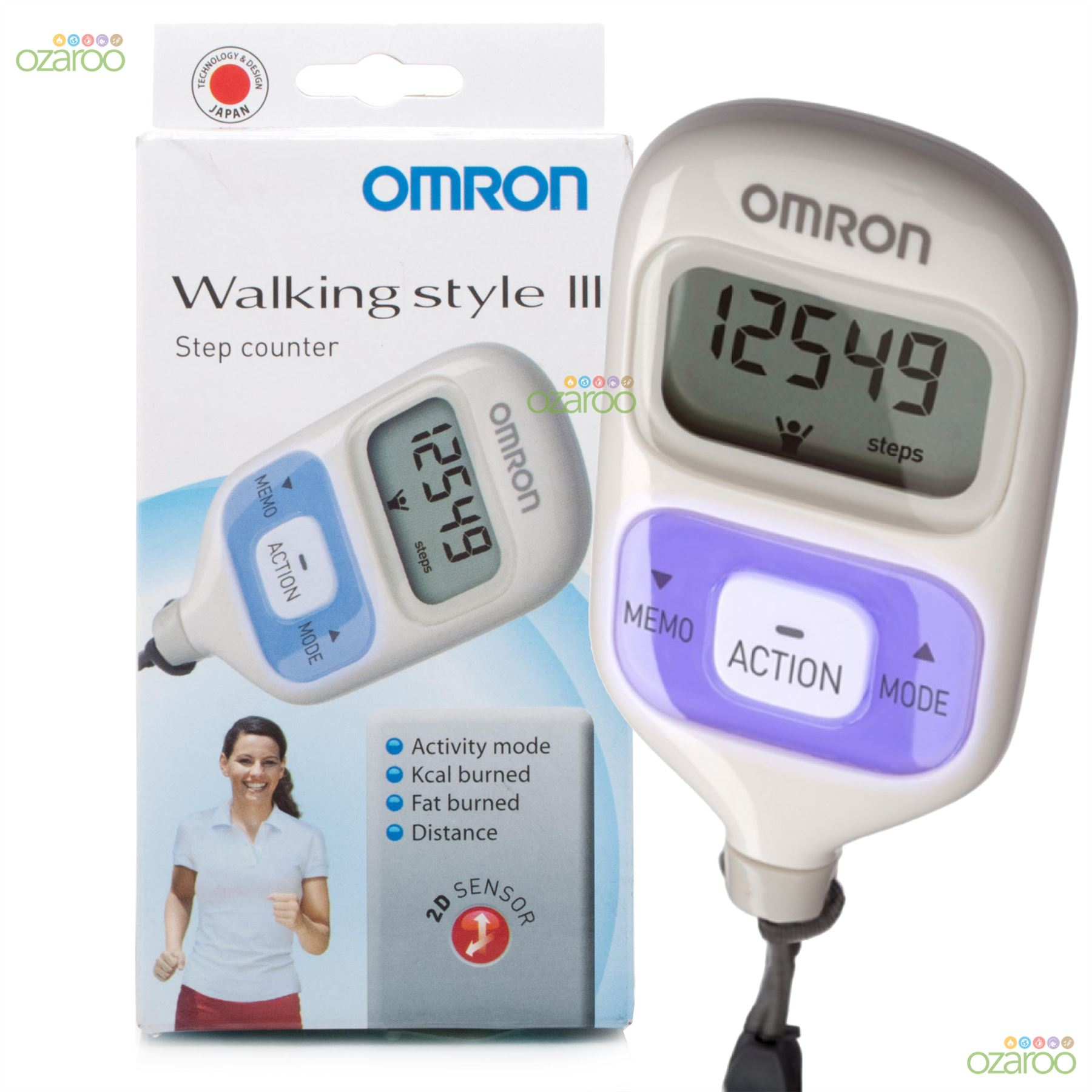 omron walking style iii pedometer light weight step run. Black Bedroom Furniture Sets. Home Design Ideas
