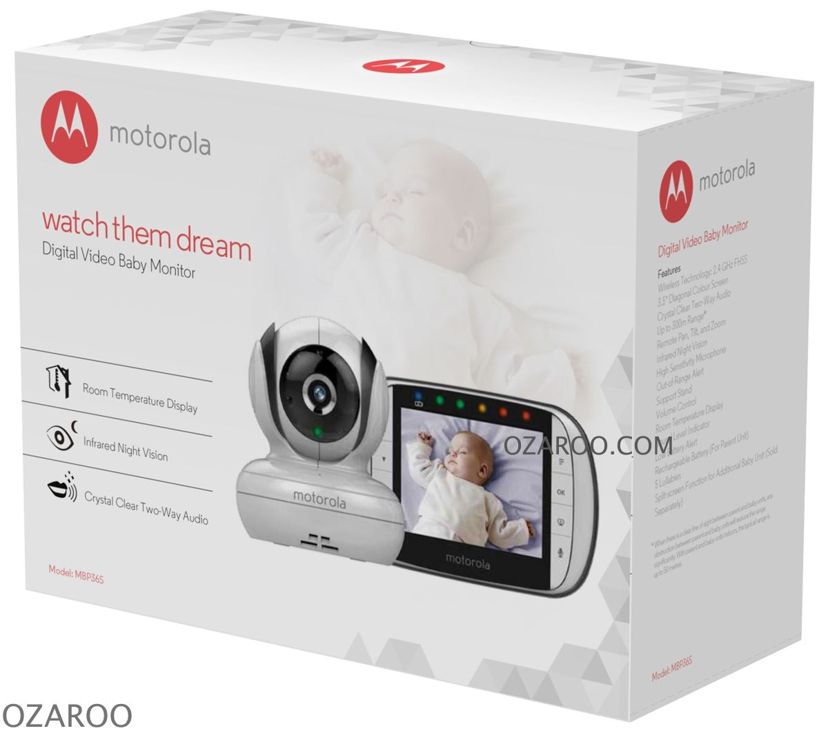 motorola mbp36s digital camera video monitor with 3 5 inch colour lcd screen. Black Bedroom Furniture Sets. Home Design Ideas