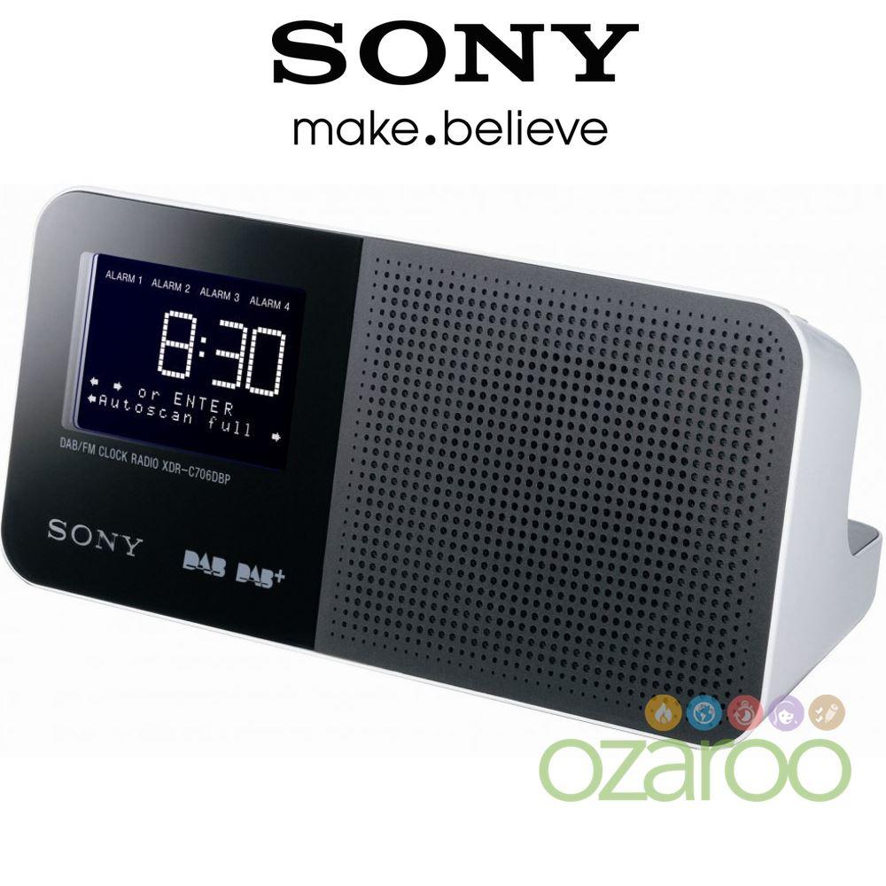new sony alarm clock dab dab digital radio with lcd display xdrc706dbp ebay. Black Bedroom Furniture Sets. Home Design Ideas