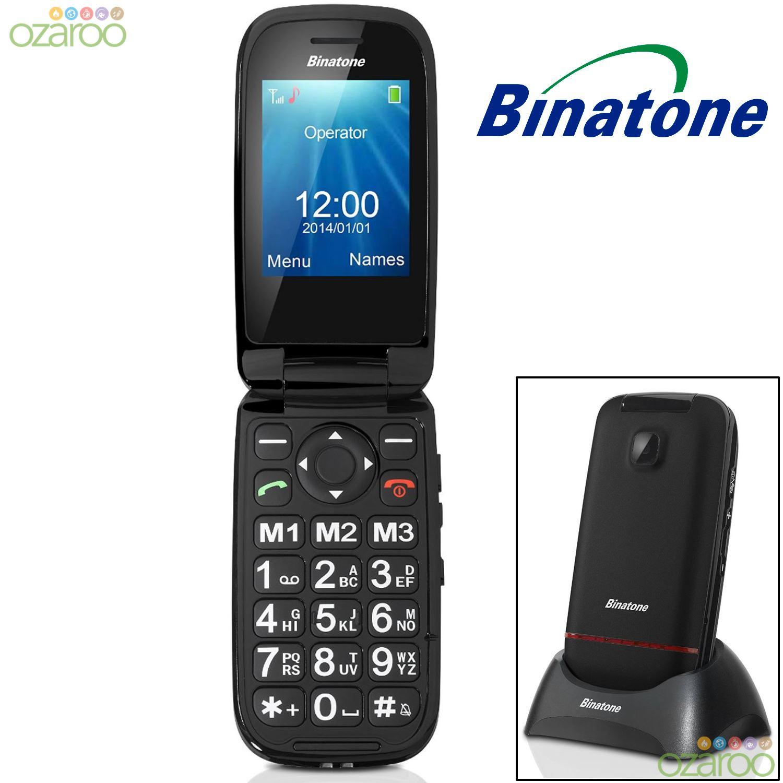 binatone sim free unlocked big button senior clamshell flip mobile phone sos ebay. Black Bedroom Furniture Sets. Home Design Ideas