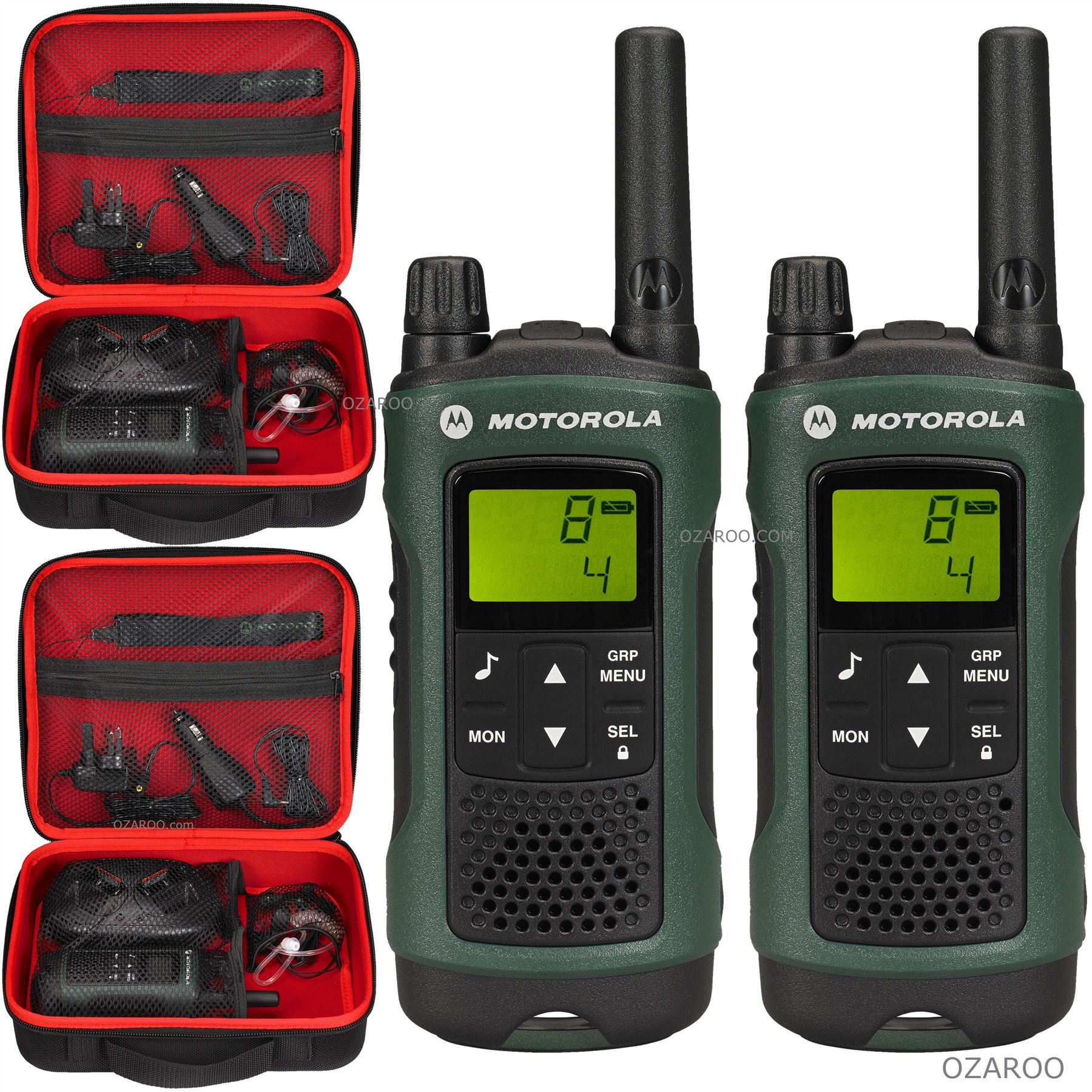 2 x motorola talker tlkr t81 hunter 10km walkie talkie. Black Bedroom Furniture Sets. Home Design Ideas