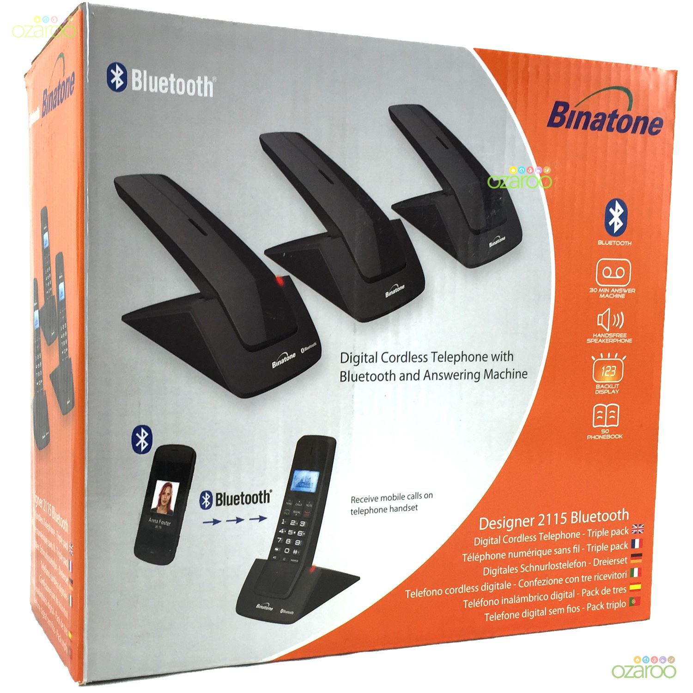 designer home phones. 3 Binatone Designer 2115 Bluetooth Triple Dect Home Phones With Answer  Machine eBay