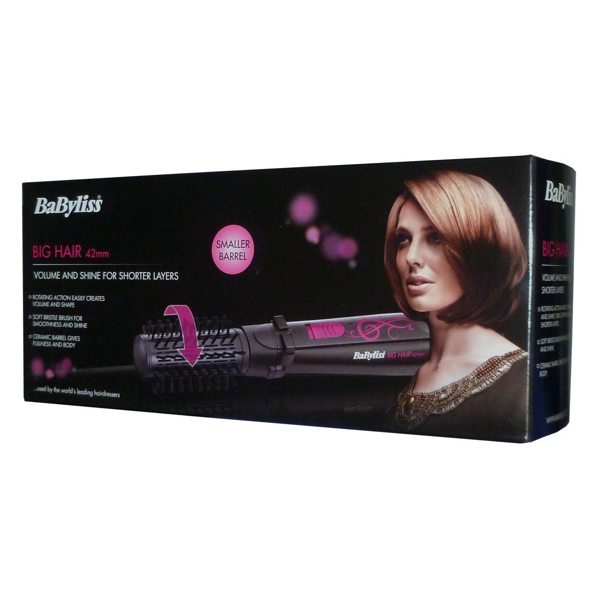 Babyliss 42mm Big Hair Rotating Styler Ionic Conditioning Curling Tong ...