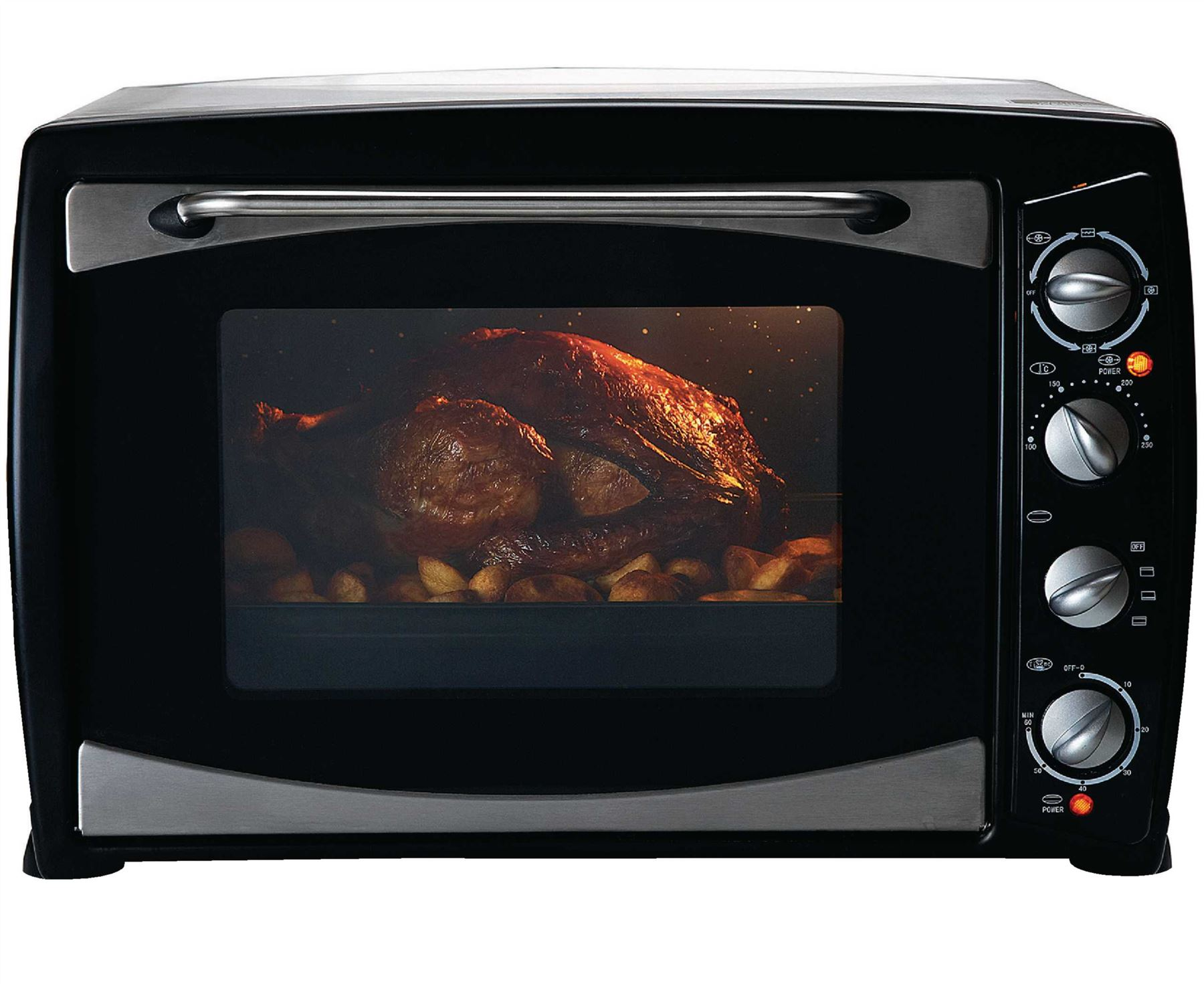 Compact Oven With Two Ring Hob 50 Litre Convection Grill Toaster ...