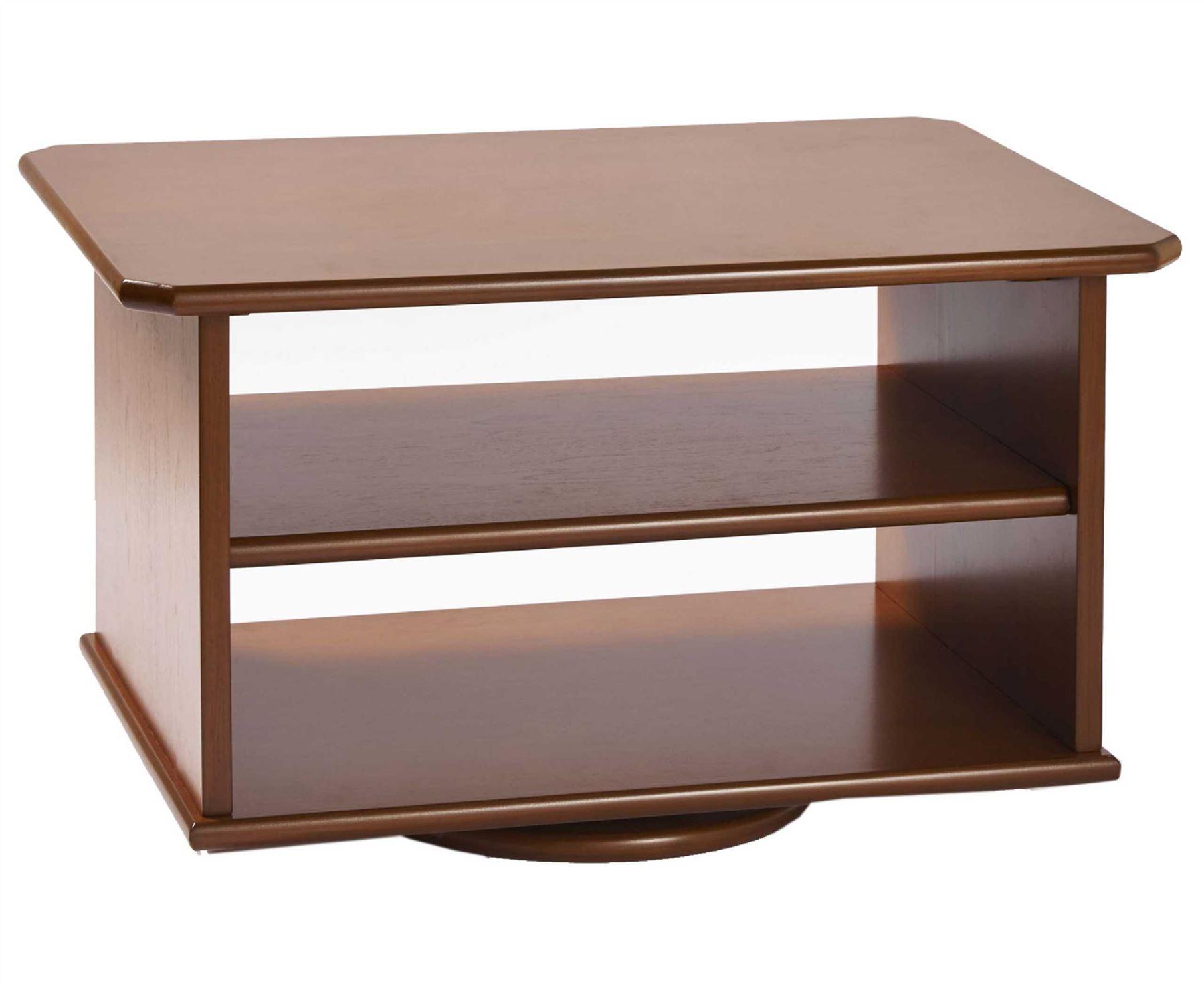 Tv Swivel Stand 2 Tier Furniture Media Storage Shelving
