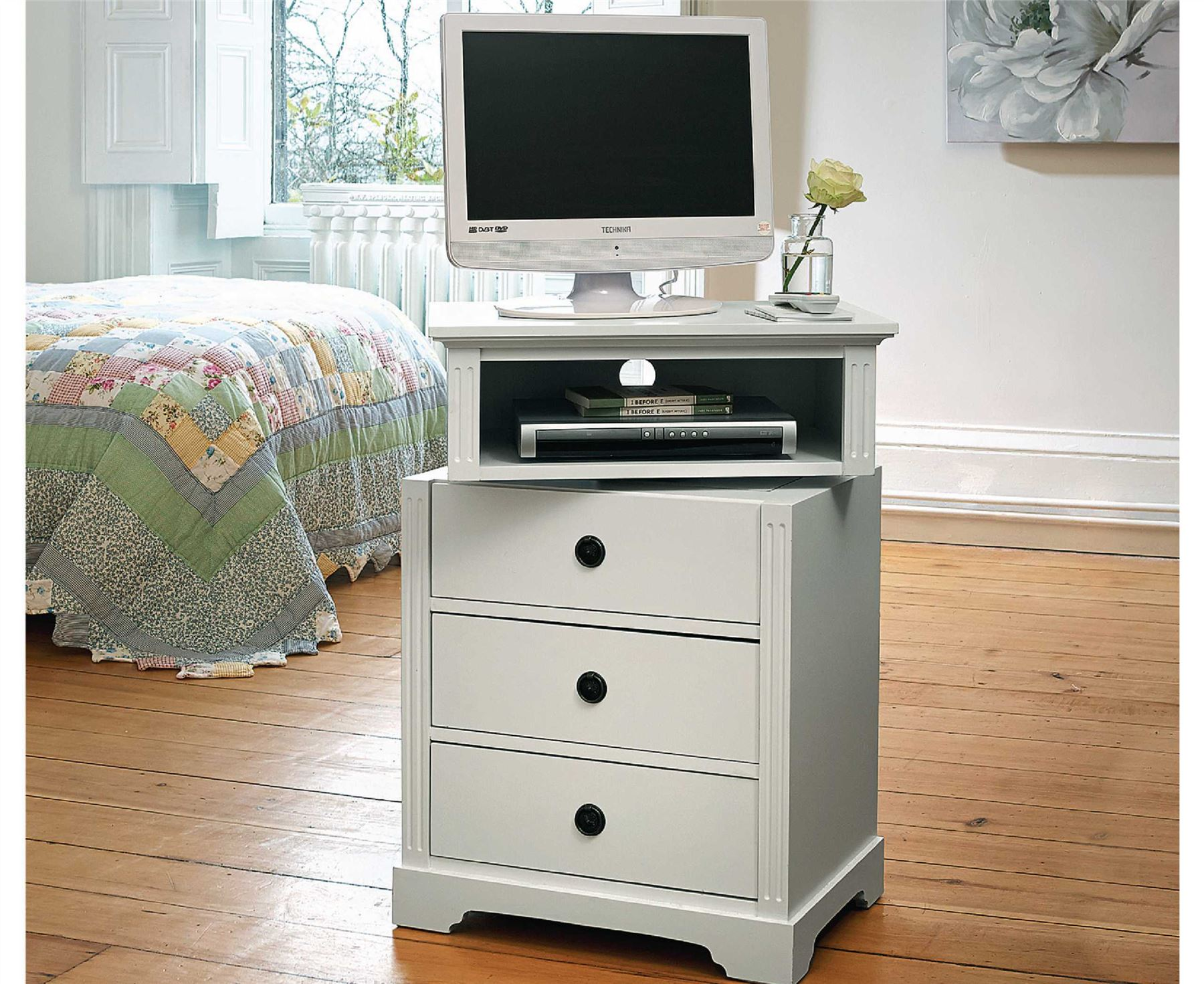 wooden chest of drawers with swivel top bedroom tv shelf rotates stand