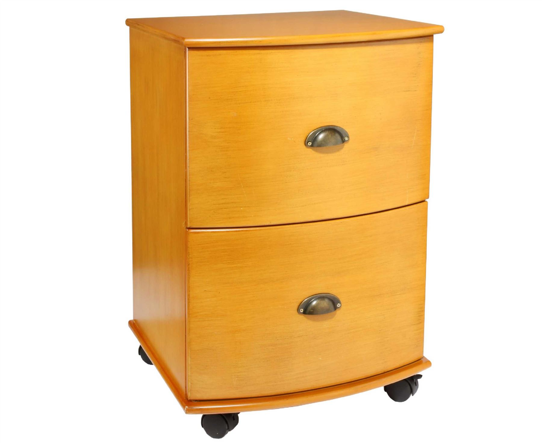 Bow Fronted Filing Cabinet 2 Drawer Living Room Furniture 70 X 48 X48cm Ebay