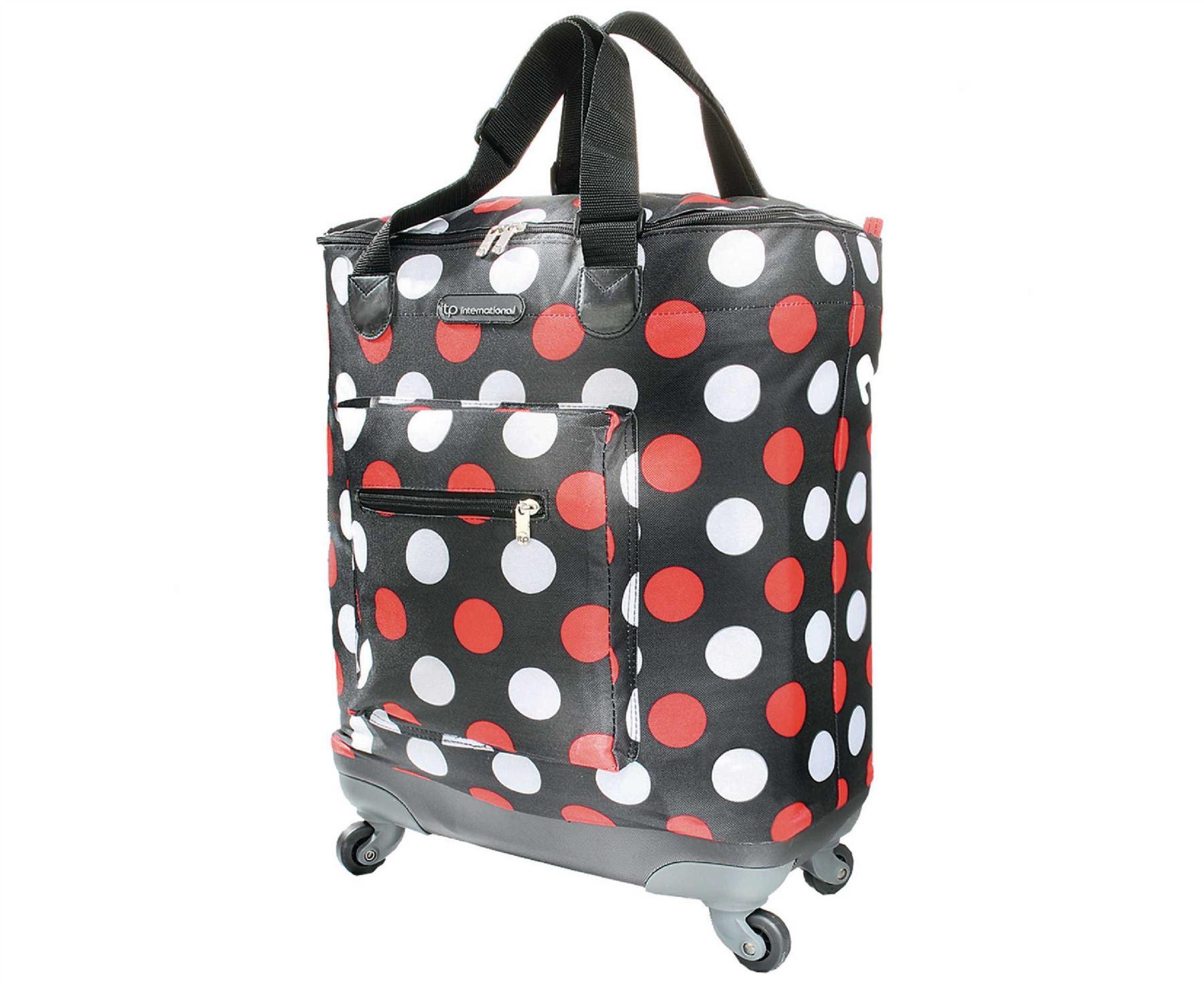 quattro lightweight folding bag on wheels shopping trips. Black Bedroom Furniture Sets. Home Design Ideas