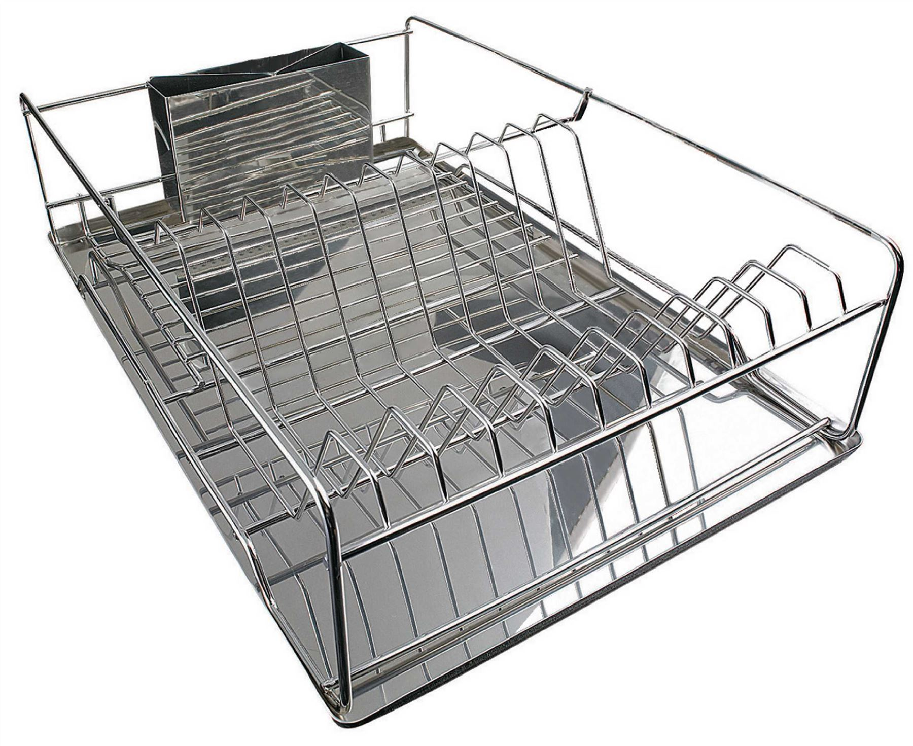 stainless steel drainer large stainless steel plate dish rack chrome pleated ebay. Black Bedroom Furniture Sets. Home Design Ideas