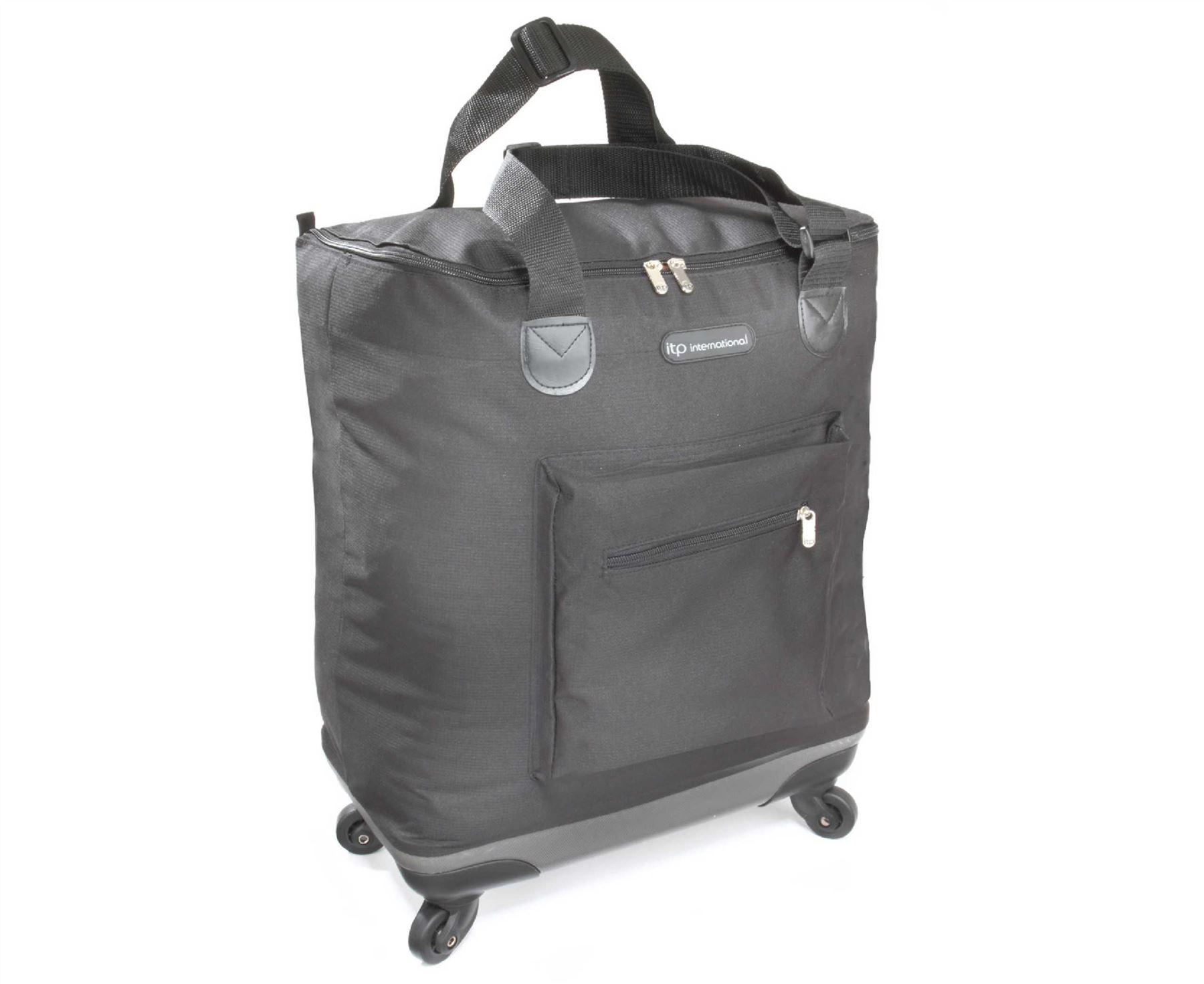 quattro lightweight folding bag on wheels shopping trips travel lightweight ebay. Black Bedroom Furniture Sets. Home Design Ideas